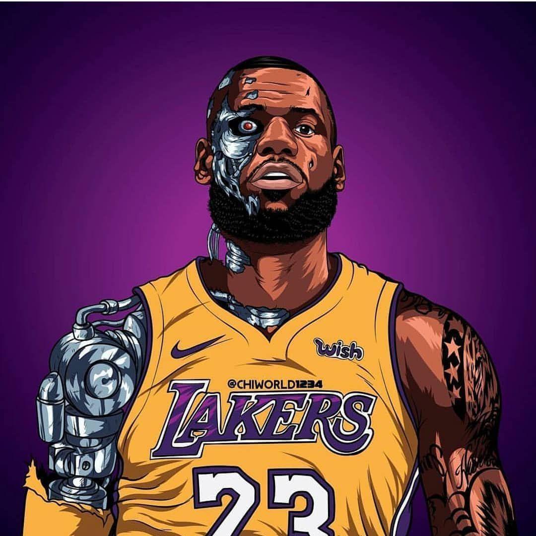 Cartoon LeBron Lakers Wallpapers - Top Free Cartoon LeBron Lakers ...