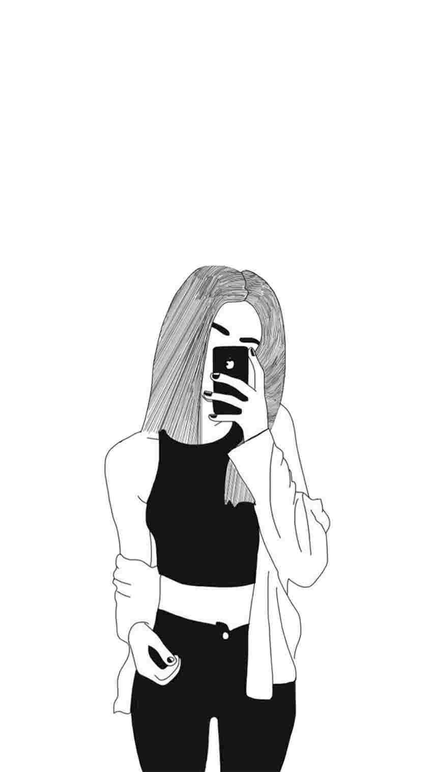 Girl Drawing Tumblr Wallpapers , Top Free Girl Drawing