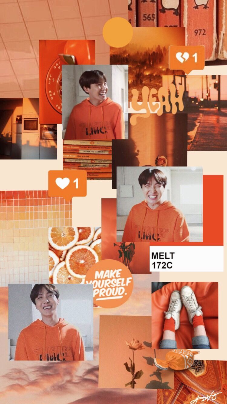 Orange Bts Aesthetic Wallpapers Top Free Orange Bts Aesthetic