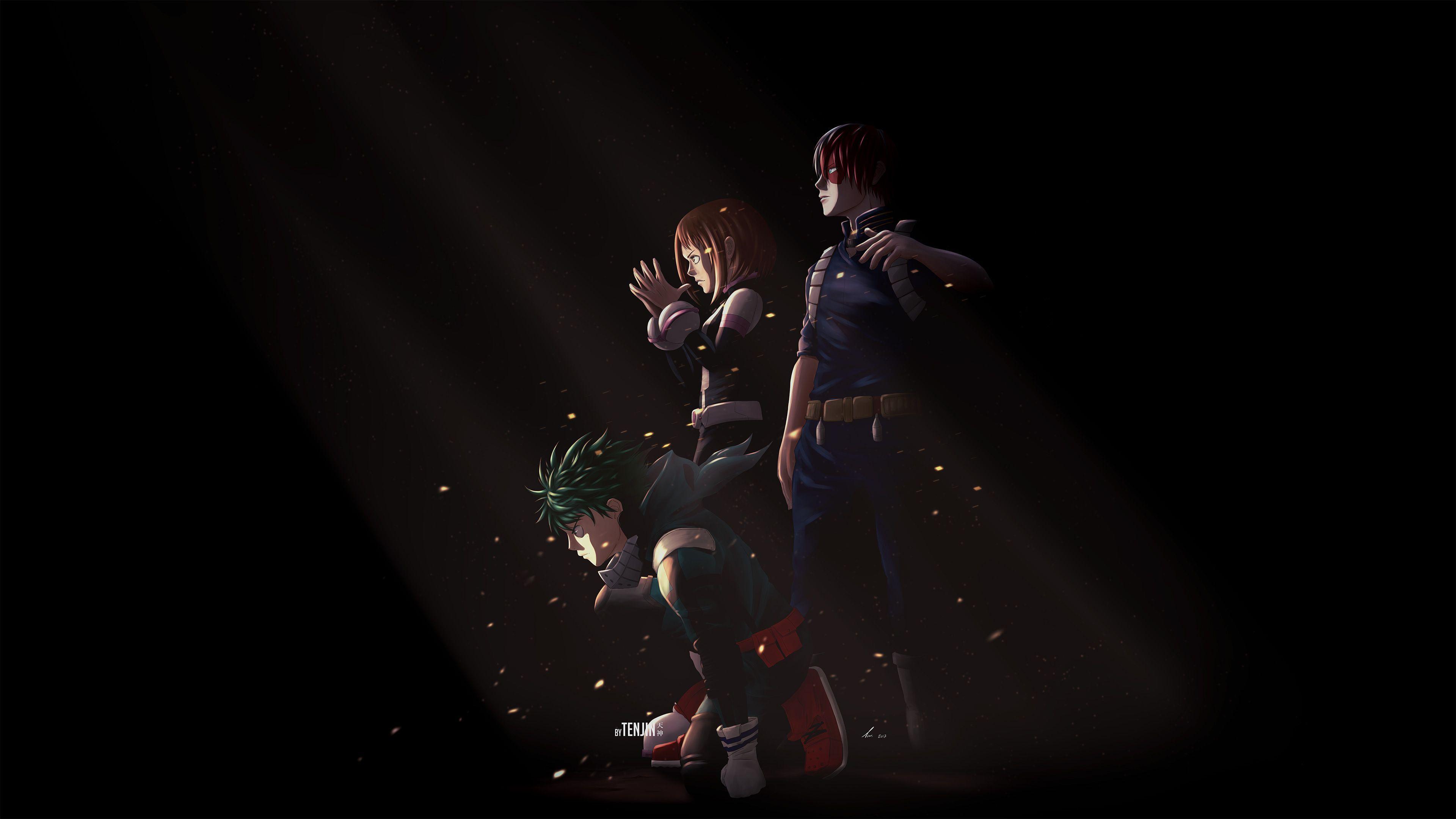 3840x2160 Uraraka Deku Shouto Todoroki My Hero Academia, HD Anime, 4k
