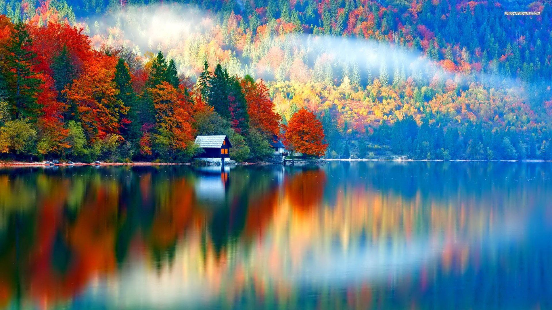 Autumn Lake Wallpapers Top Free Autumn Lake Backgrounds Wallpaperaccess