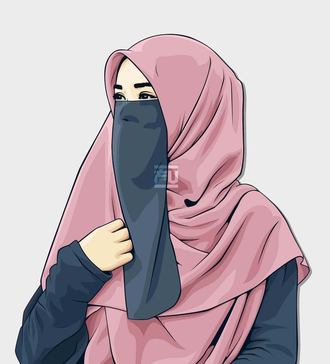 Muslim Girl Cartoon Wallpapers Top Free Muslim Girl