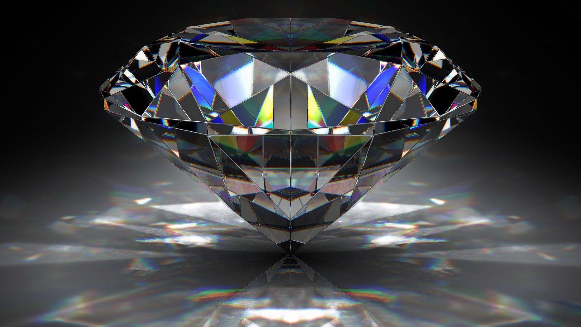 Hình nền rộng 1920x1080 3D kim cương full HD - Nhận hình nền HD miễn phí