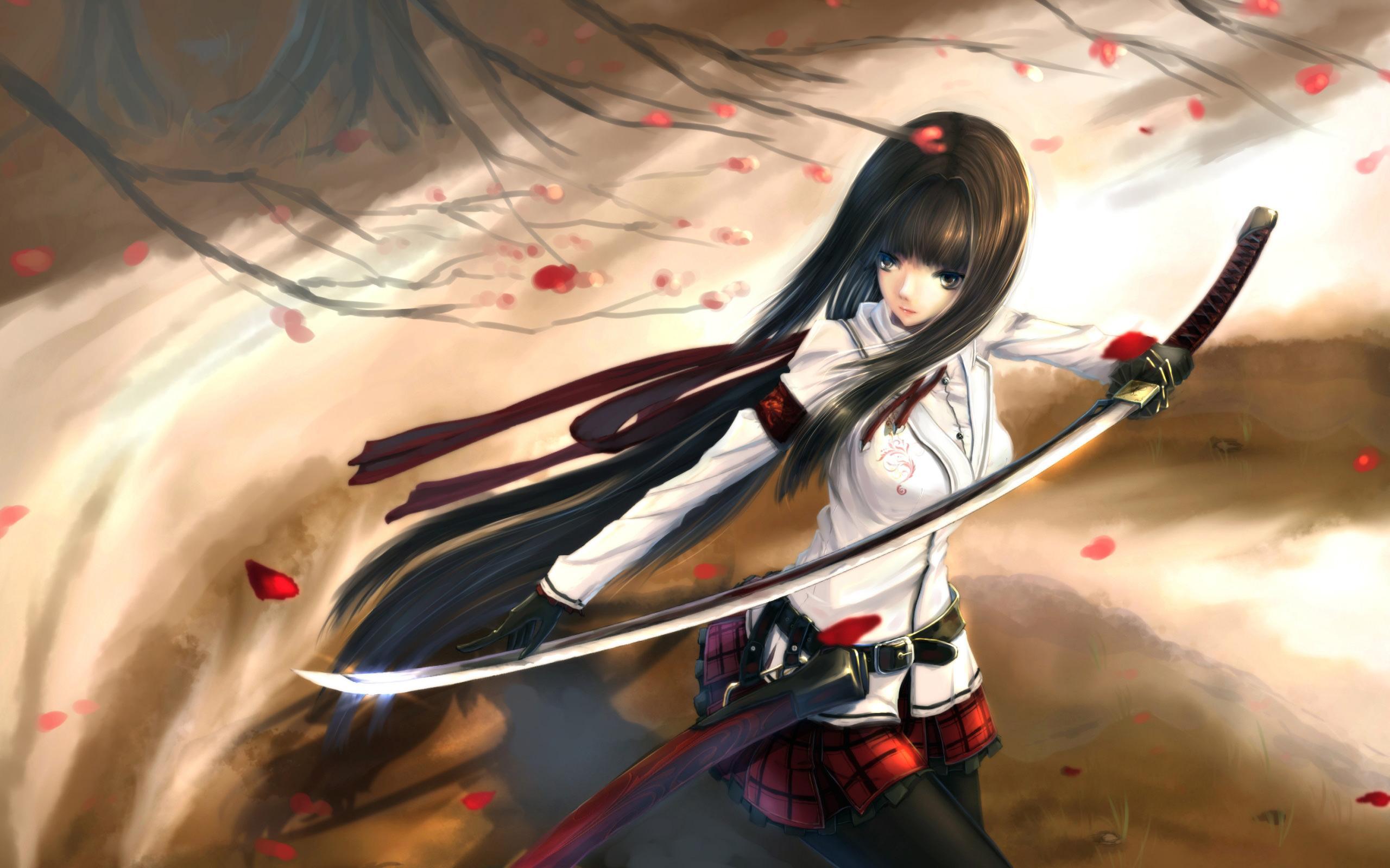 Katana sword wallpapers top free katana sword - Girl with sword wallpaper ...