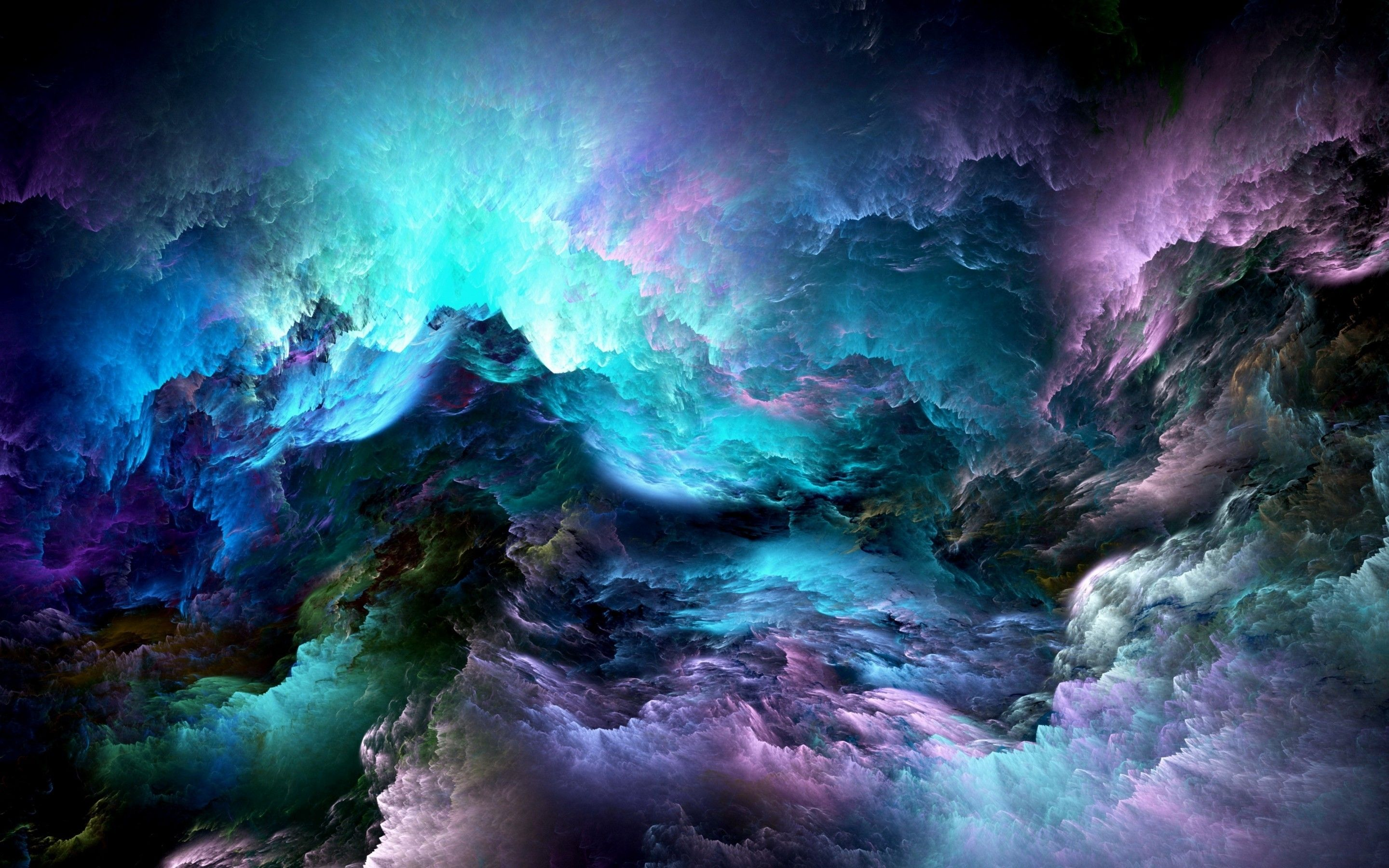 2880x1800 Abstract Colorful Clouds 2880 x 1800 Retina Display Wallpaper