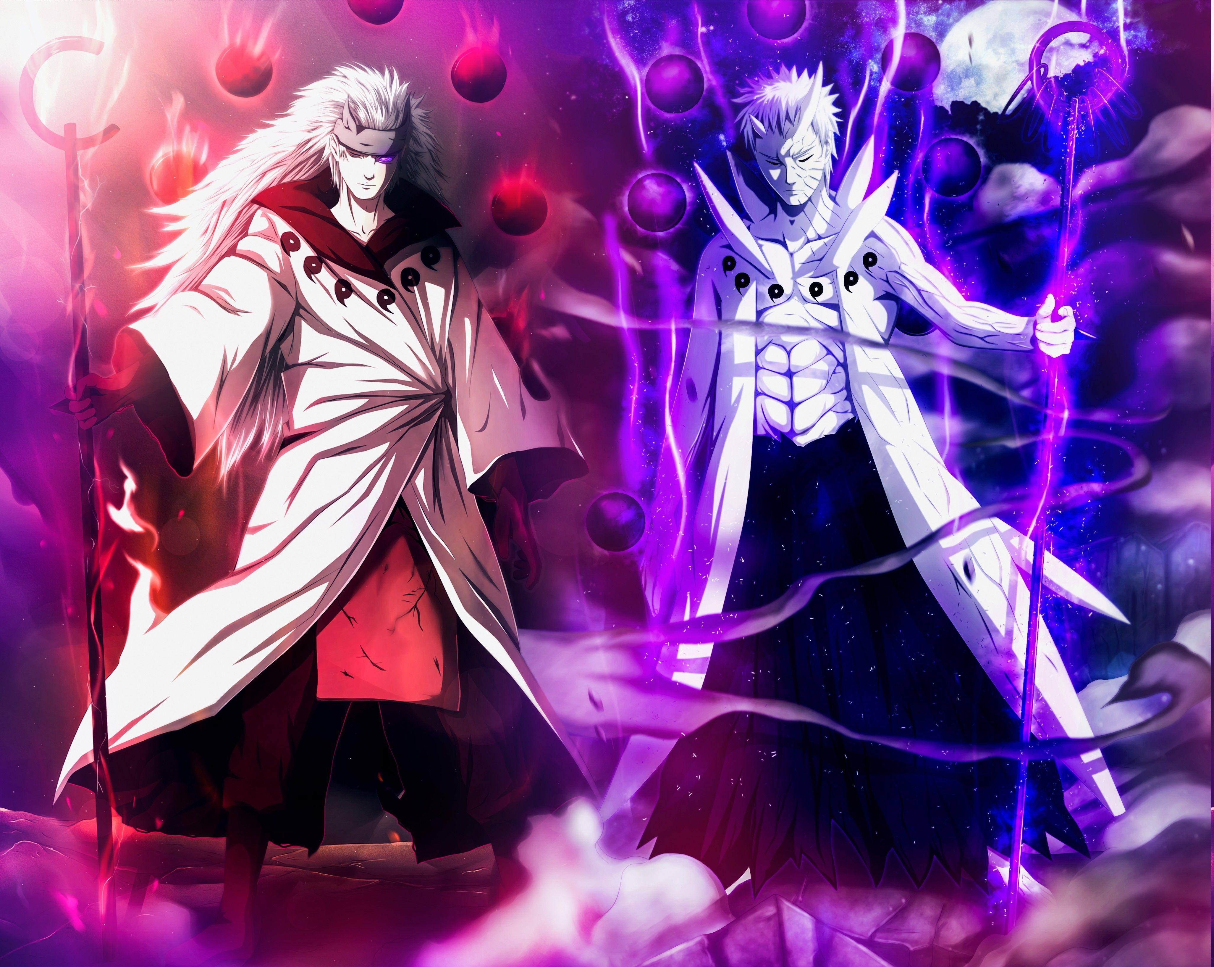 4105x3268 Naruto Shippuuden, Anime, Uchiha Obito, Uchiha Madara Hình nền có độ phân giải cao