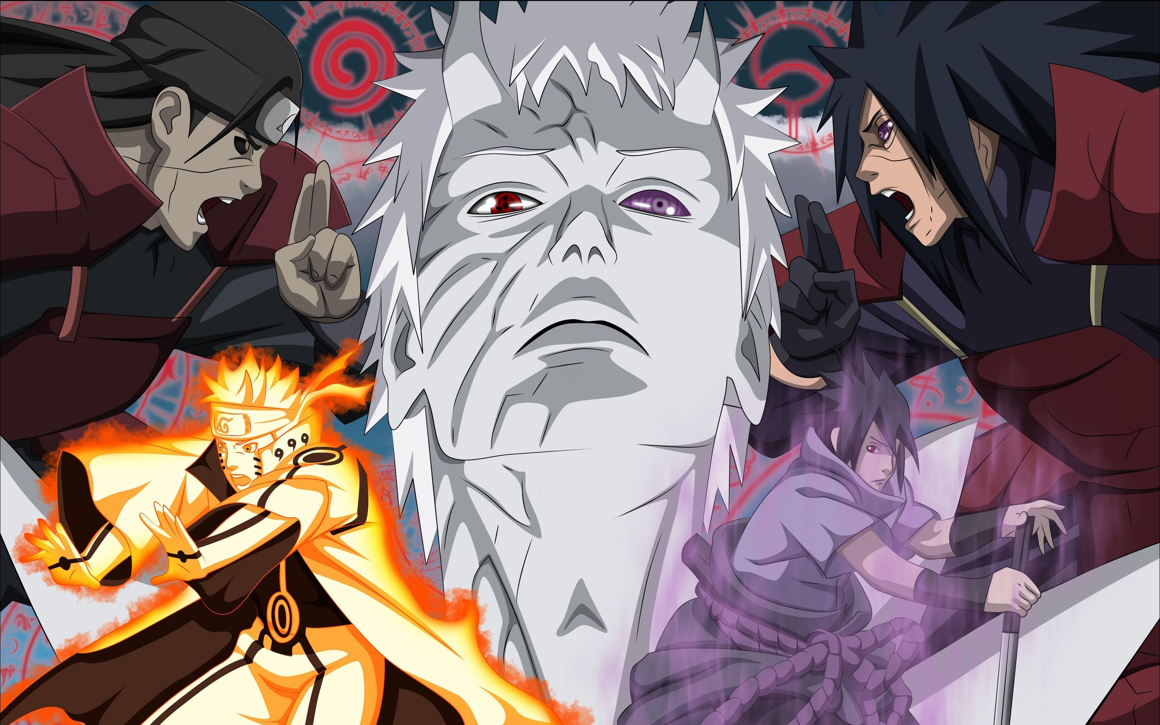 3840x2400 Tải xuống hình nền 3840x2400 Madara uchiha, Naruto anime, obito