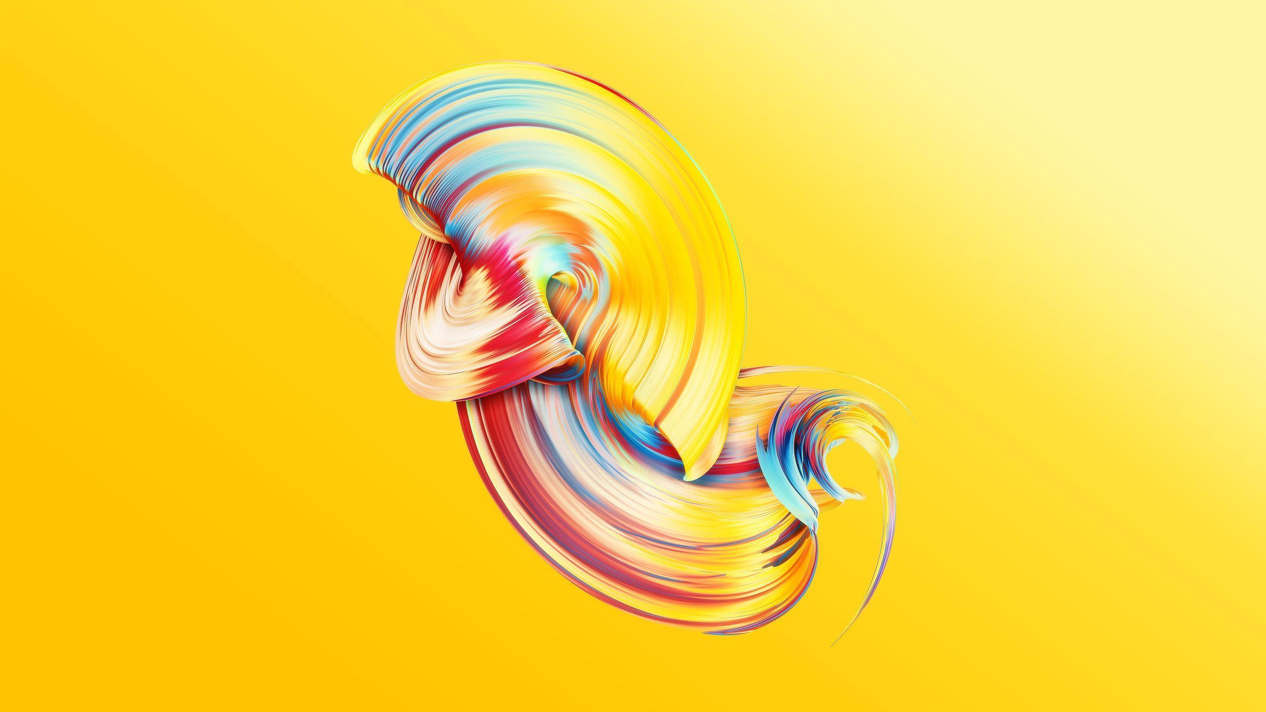 2560x1440 Hình nền trừu tượng / màu vàng - Hình nền vàng iPhone Xr HD