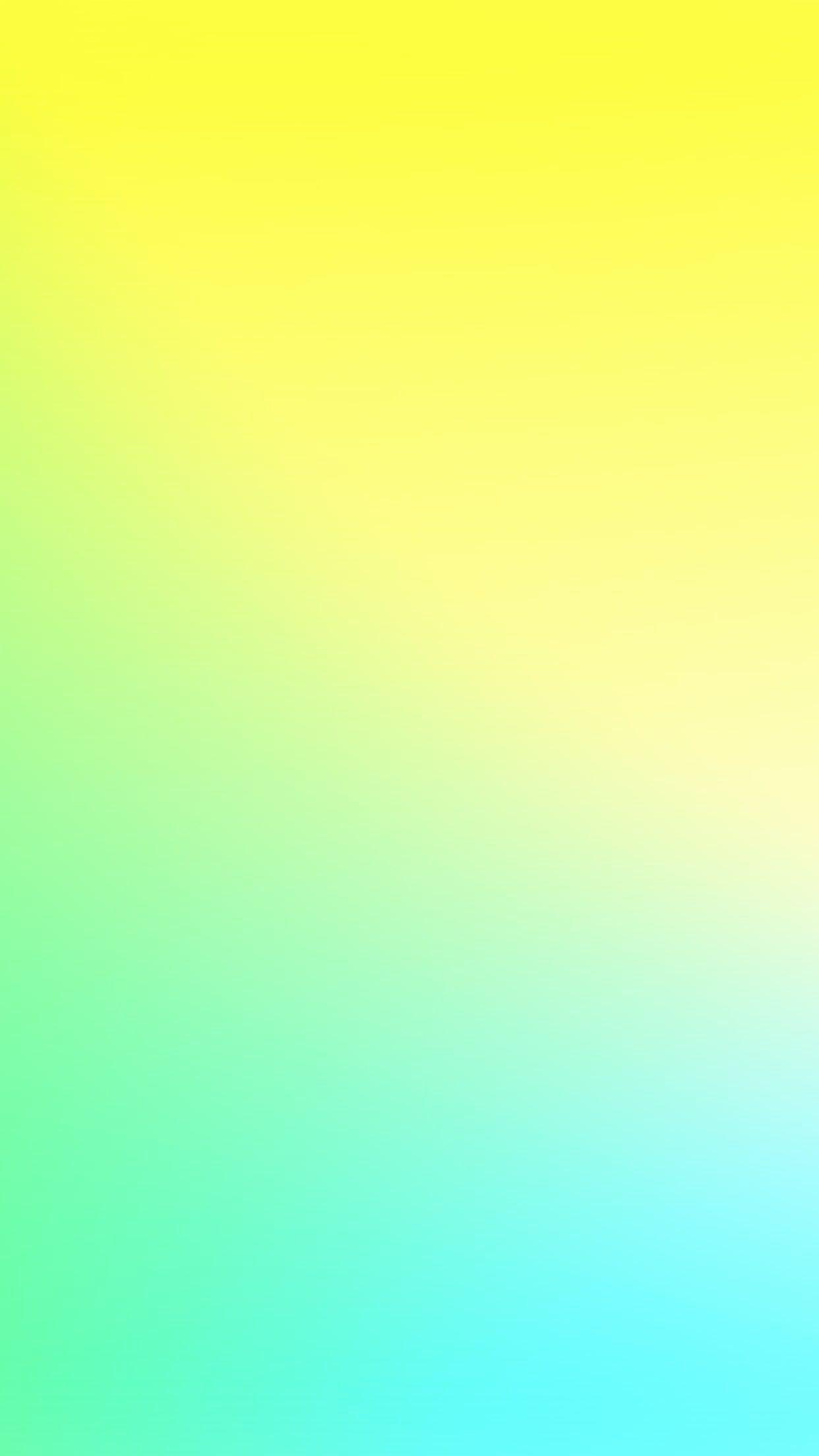 1242x2208 Hình nền Ombre xanh vàng