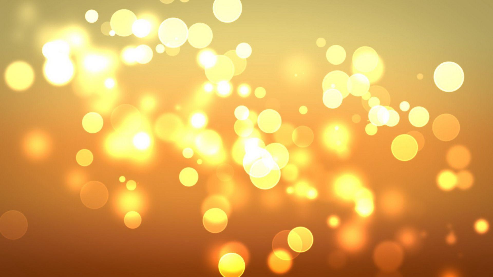 1920x1080 Bokeh trừu tượng màu vàng 27586 1920x1080px