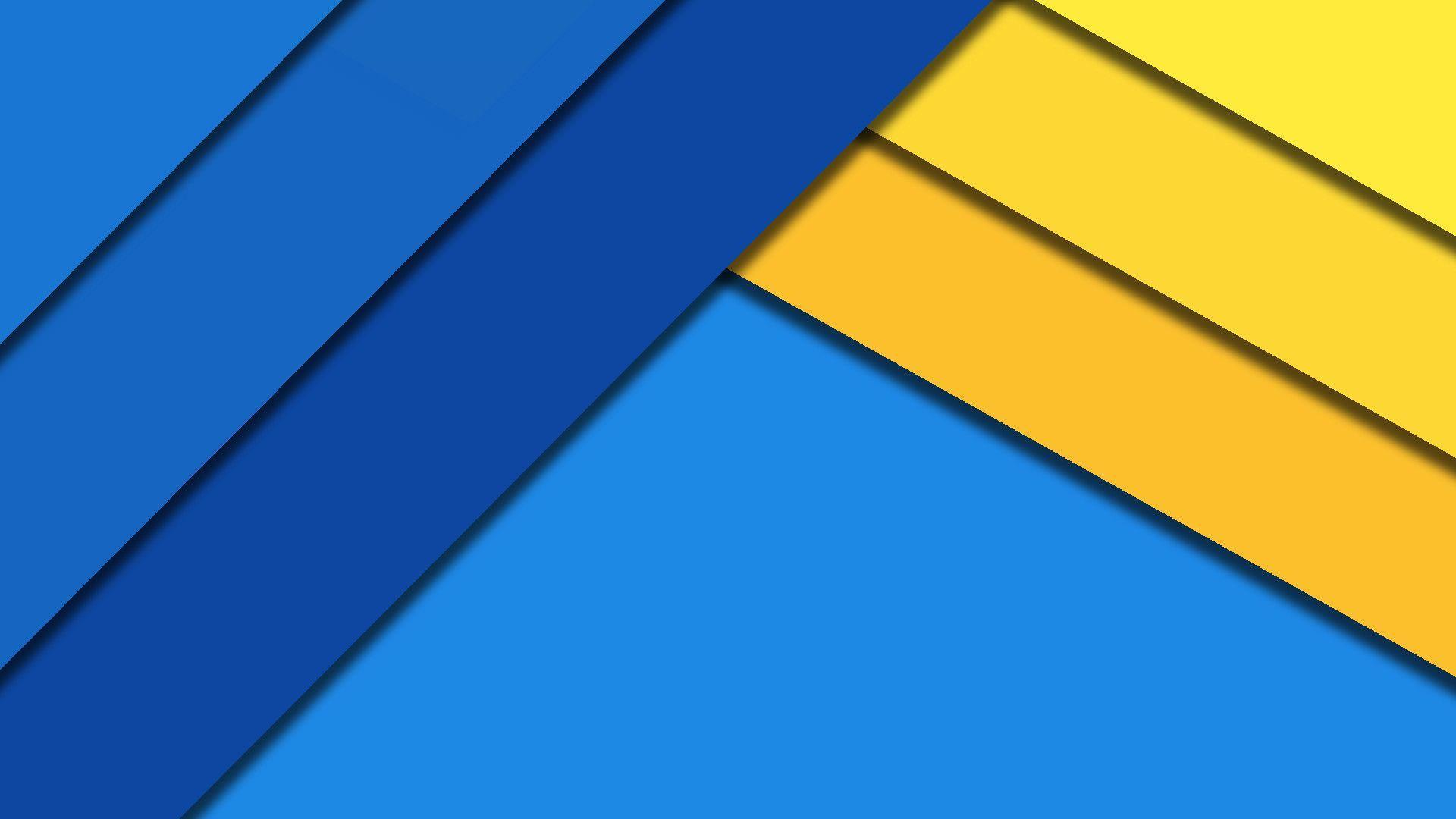 1920x1080 Hình nền màu vàng và xanh lam