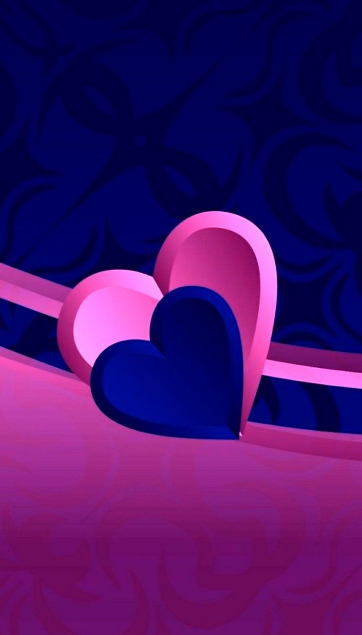 Blue Pink Heart Wallpapers - Top Free