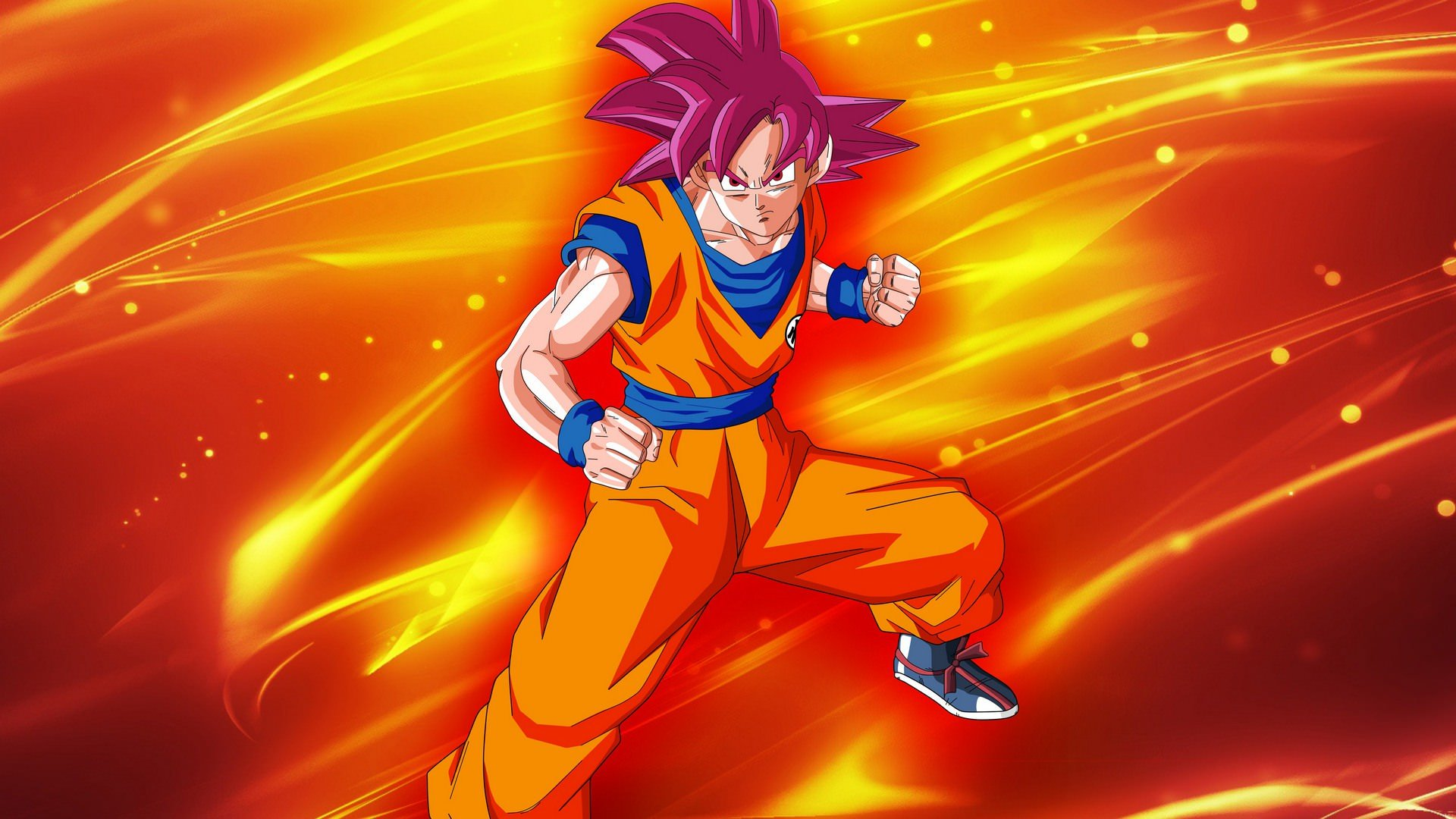Goku Super Saiyan God Wallpapers Top Free Goku Super Saiyan God Backgrounds Wallpaperaccess