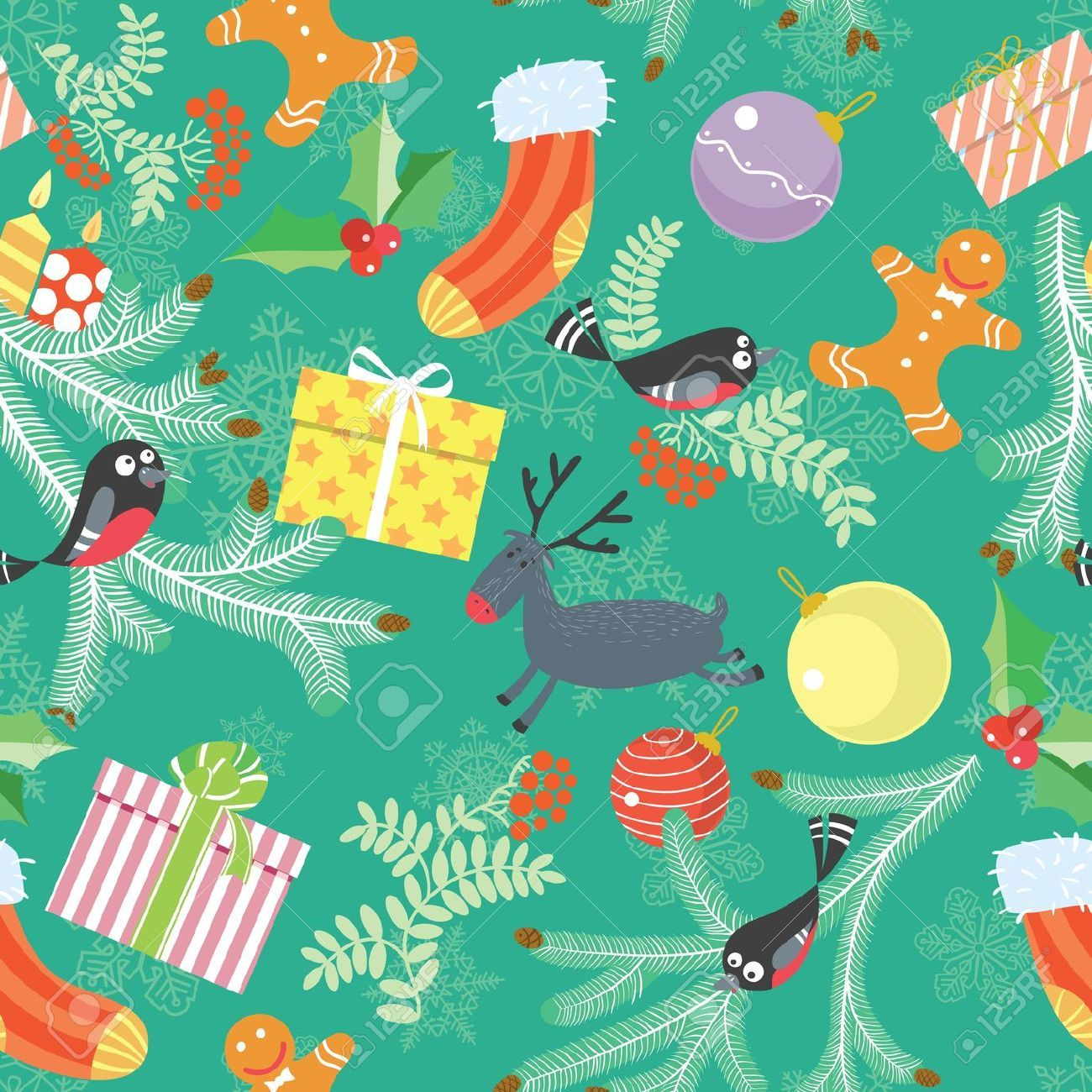 Cute Christmas Pattern Wallpapers - Top