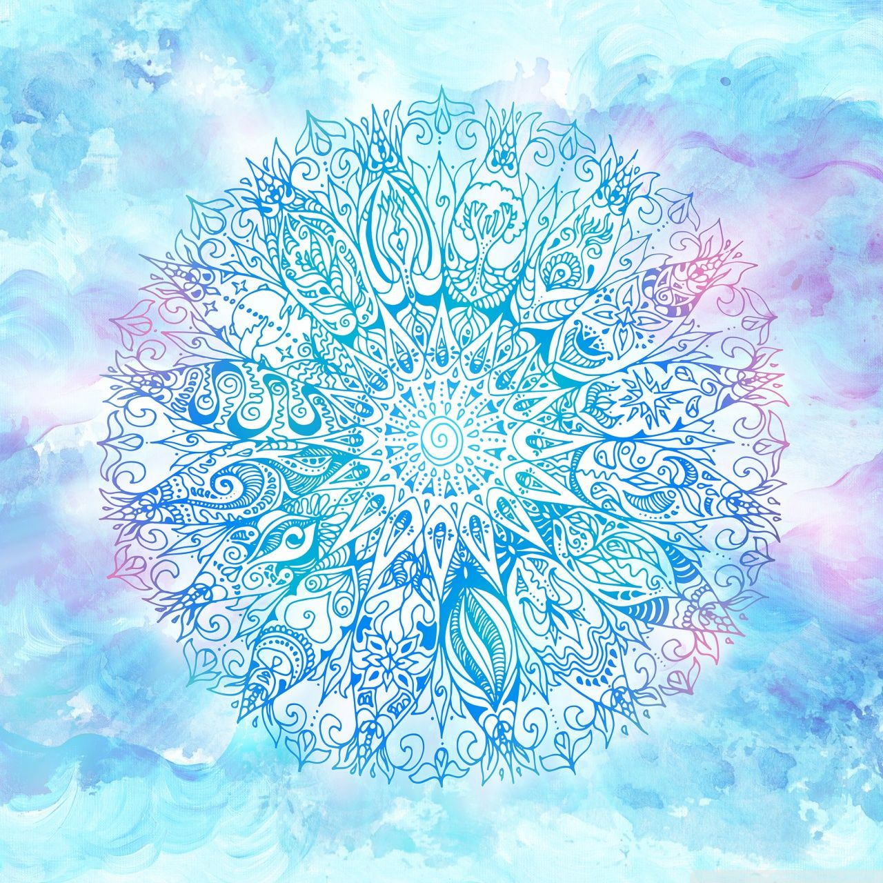 Blue Mandala Wallpapers Top Free Blue Mandala Backgrounds