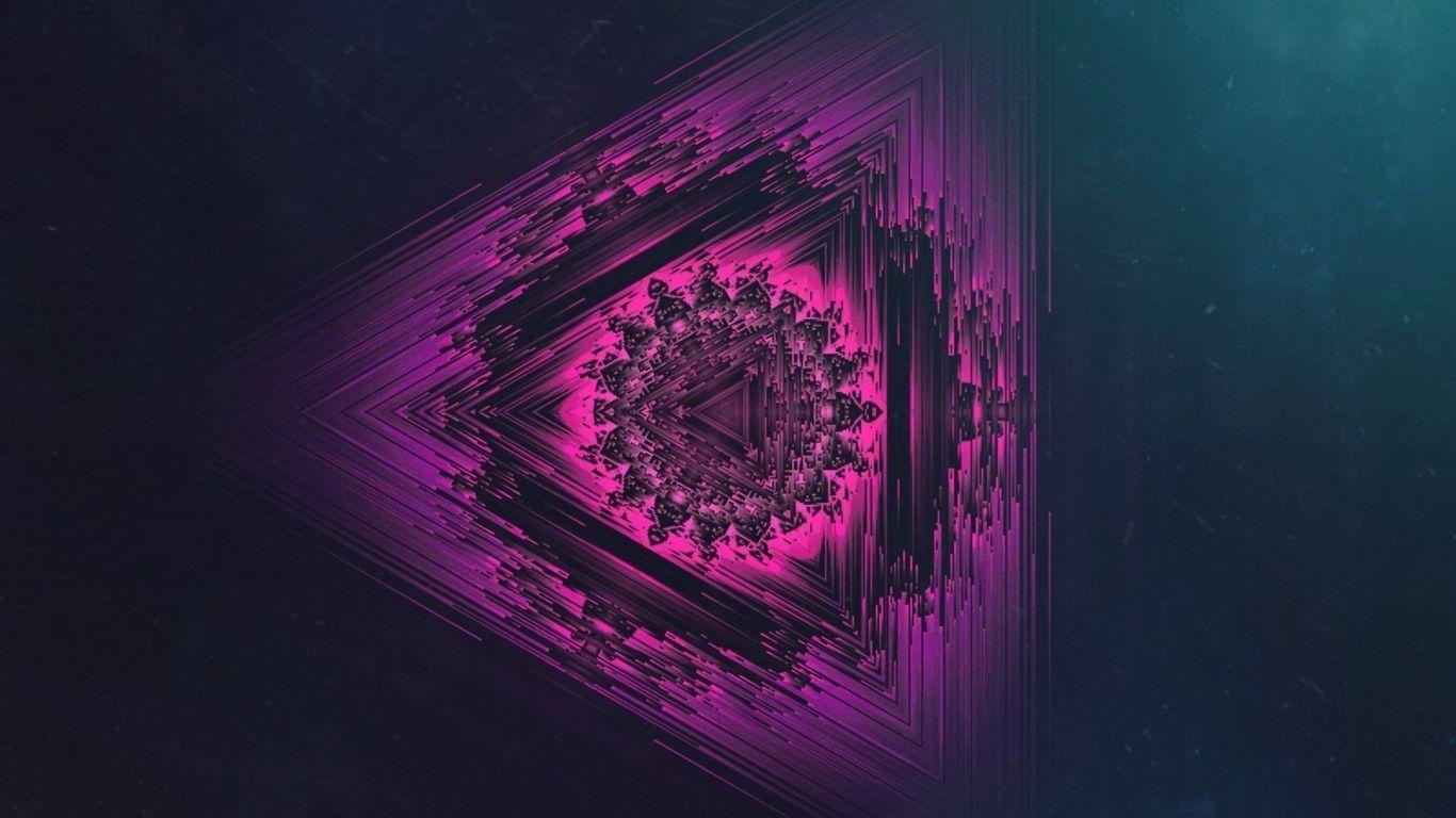 1366x768 Tải xuống hình nền 1366x768 mandala, neon, đối xứng