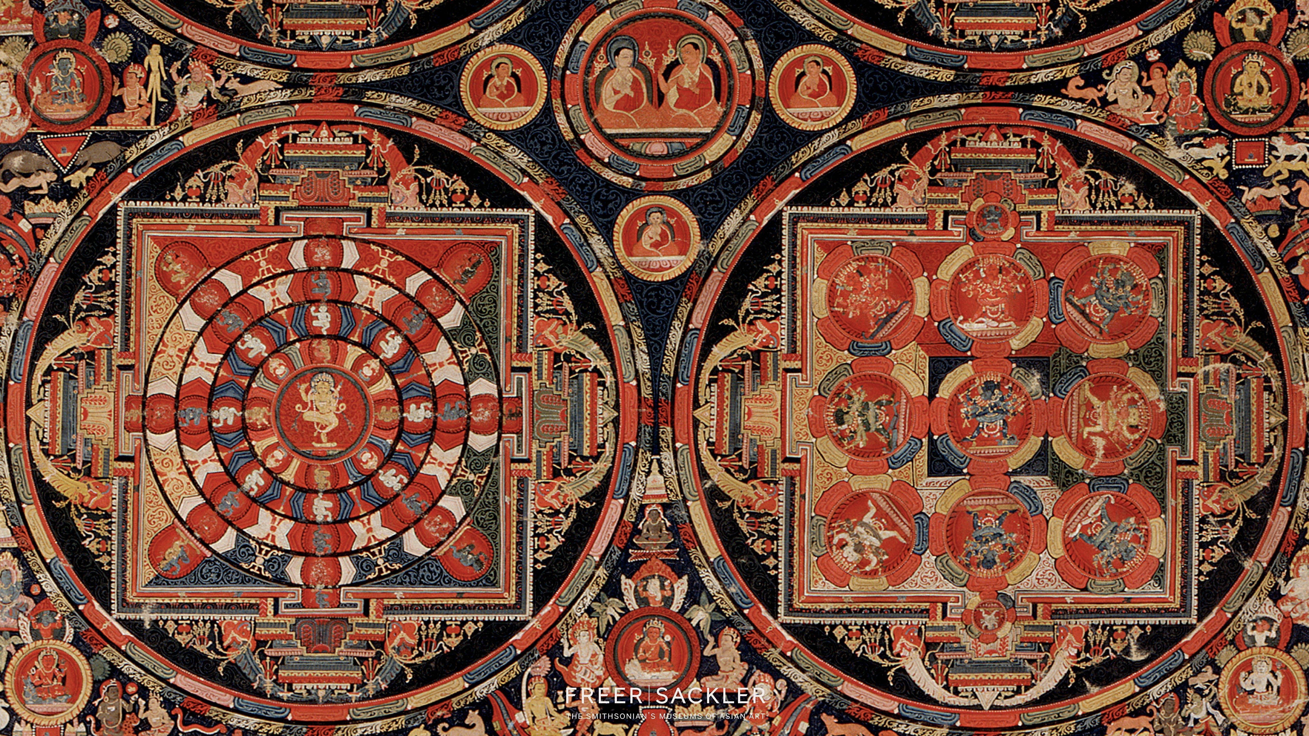 Máy tính để bàn 5120x2880 - Bốn Mandala Vajravali Thangka, Hình nền HD