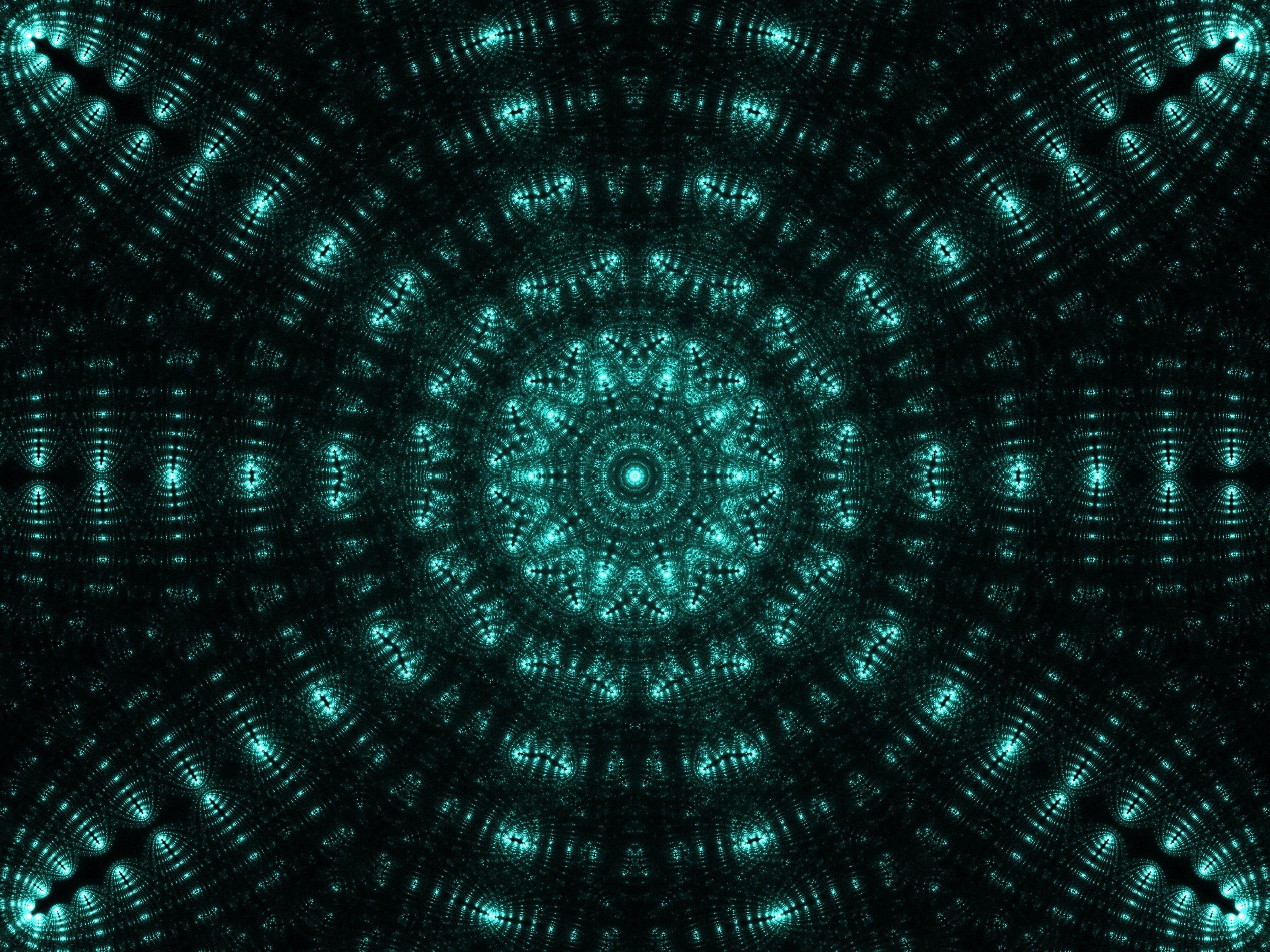 Hình nền 3200x2400 Fractal, Mandala, mẫu, Phát sáng, Trừu tượng HD