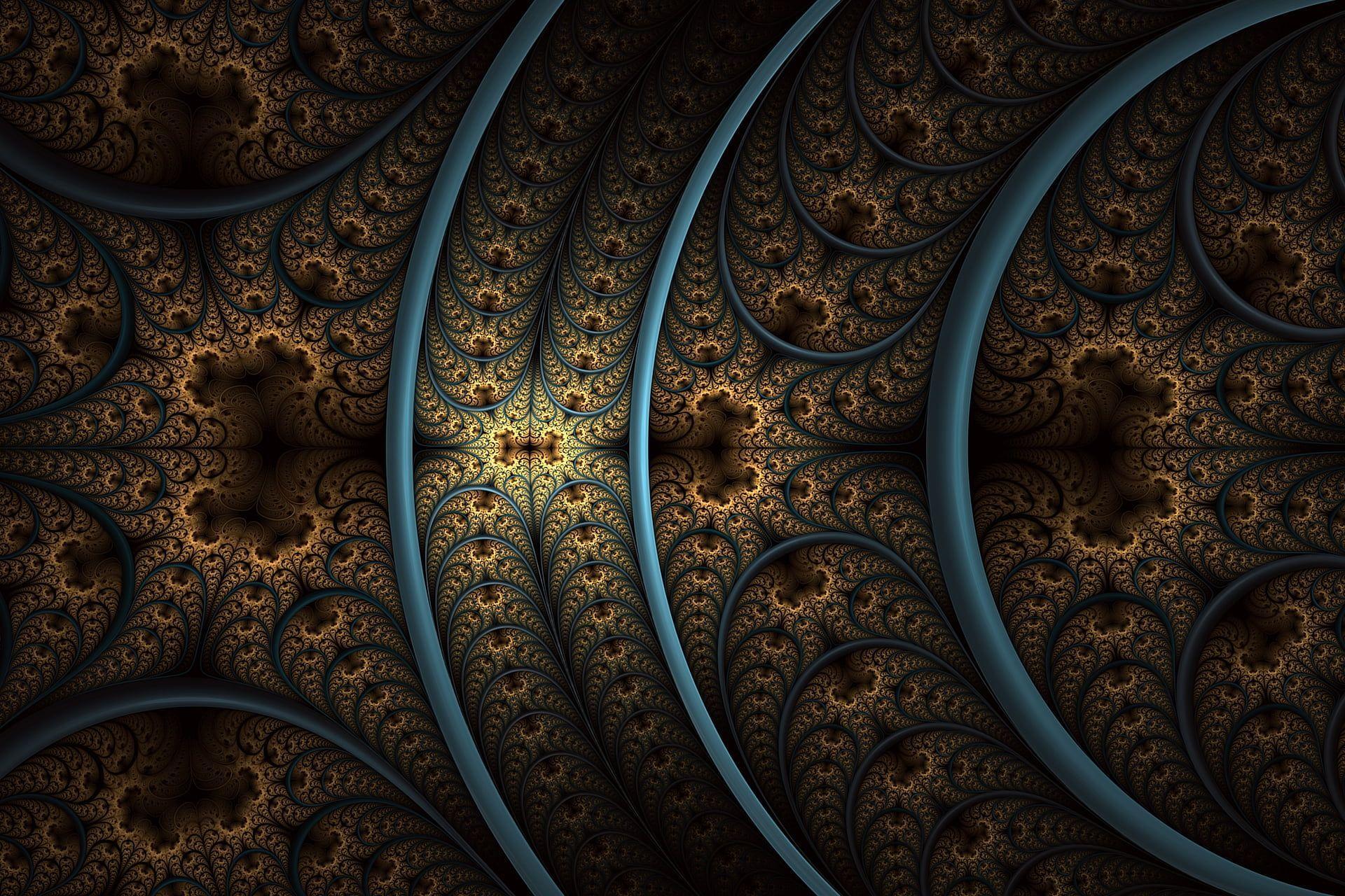 Hình nền HD 1920x1280 Brown and teal mandala art