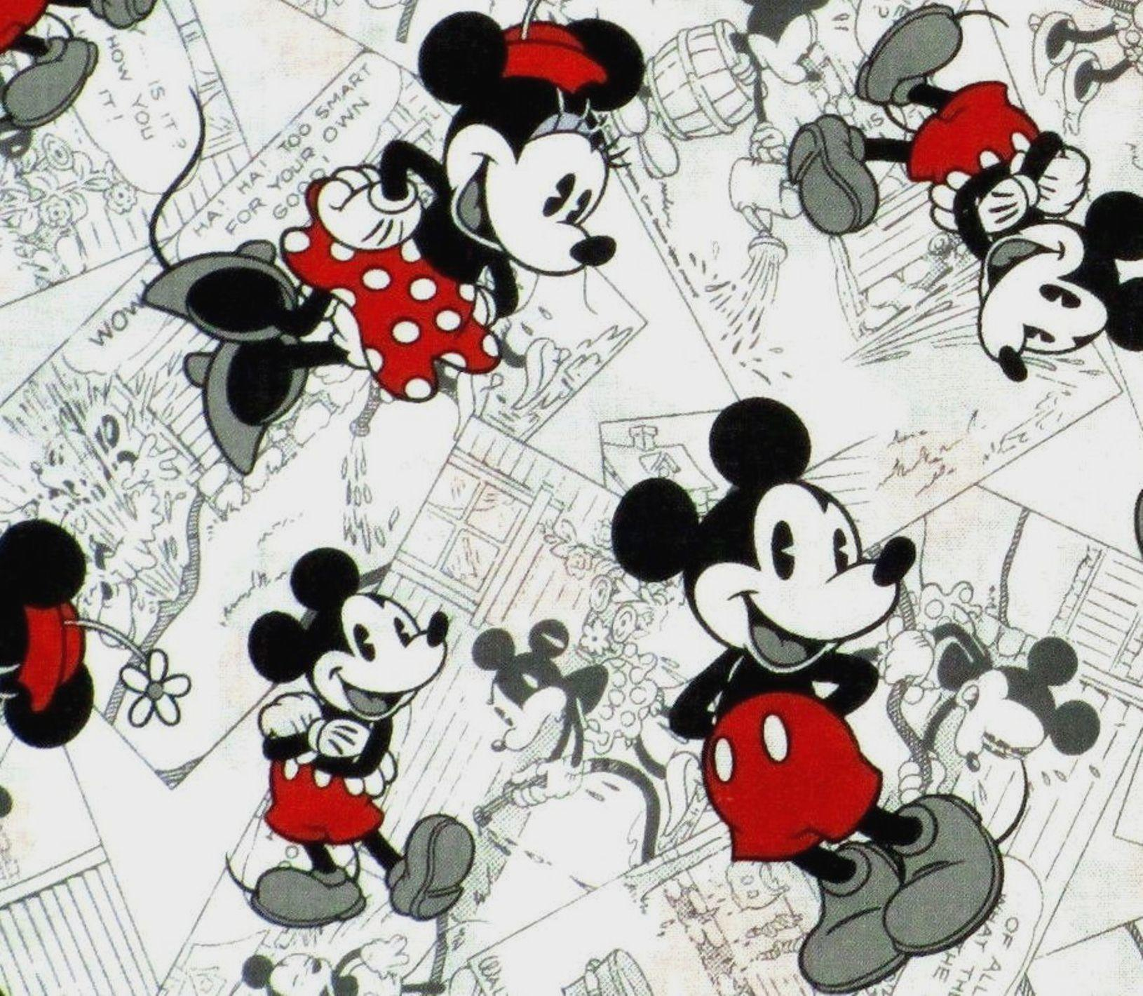 1630x1420 1 2 YARDMICKEY MINNIE MOUSE In RED BLACK WHITE On
