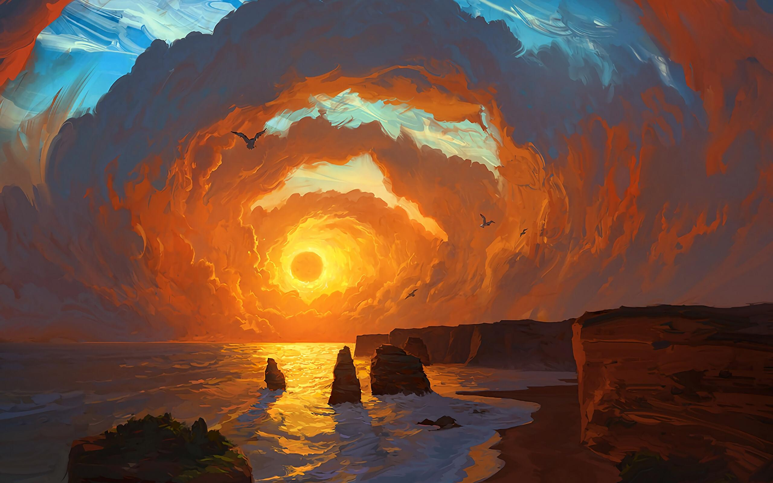 Landscape Painting Wallpapers Top Free Landscape Painting Backgrounds Wallpaperaccess
