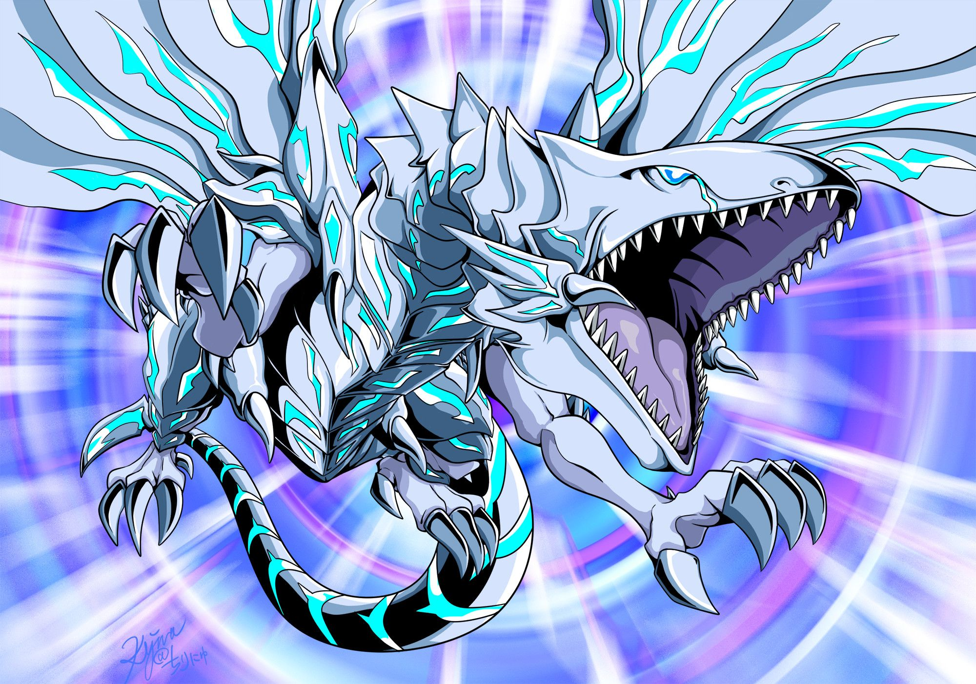 Blue Eyes White Dragon Wallpapers Top Free Blue Eyes White