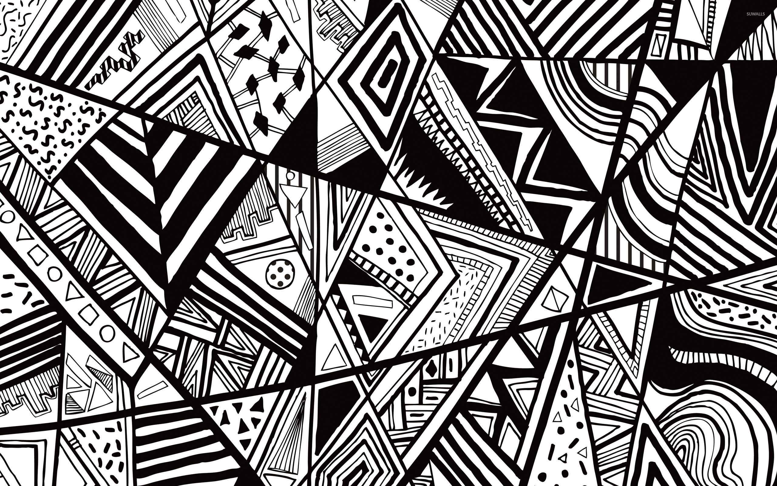 Black And White Vector Art Wallpapers Top Free Black And