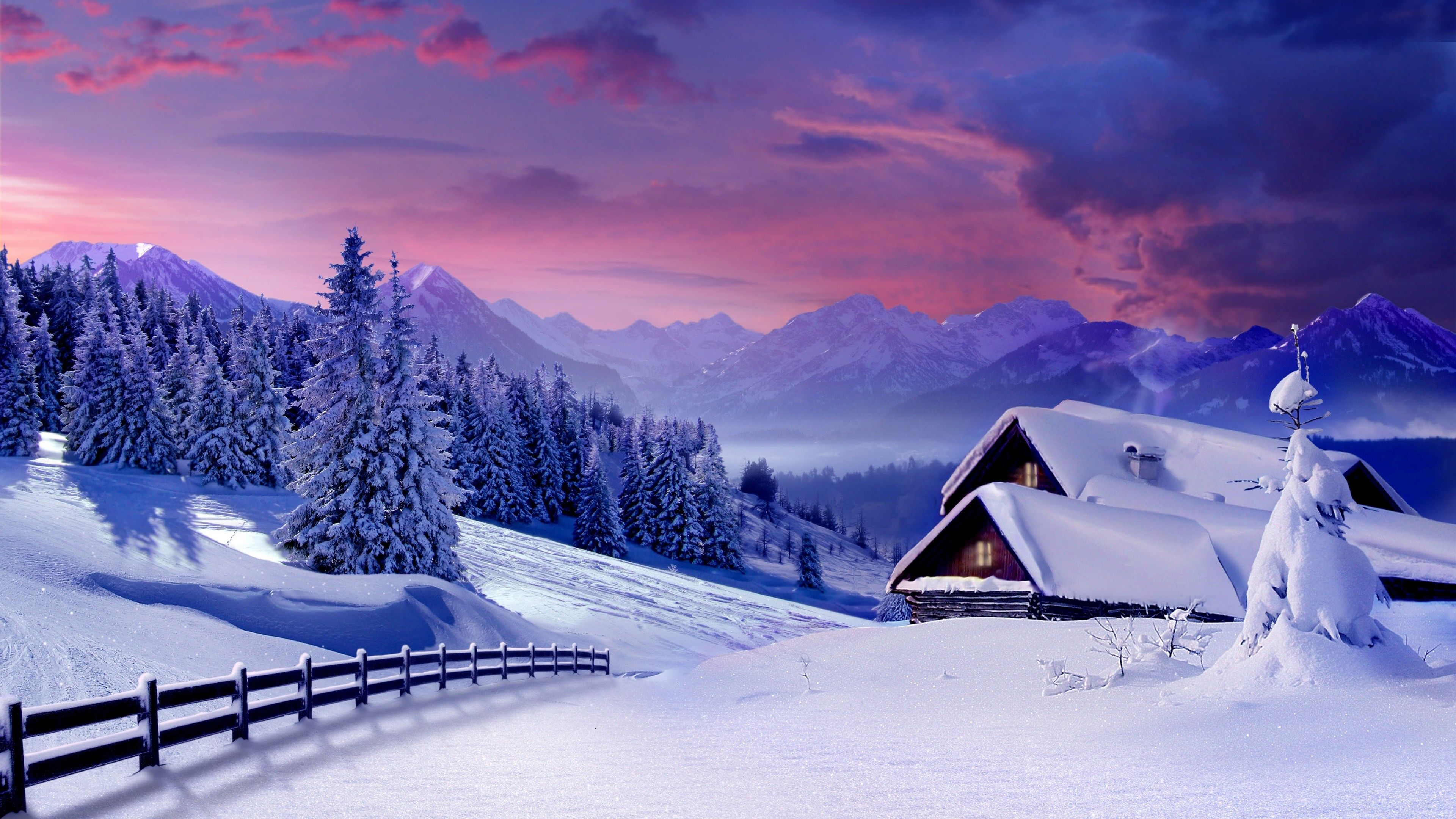 Amazing 4k Winter Wallpapers Top Free Amazing 4k Winter Backgrounds Wallpaperaccess