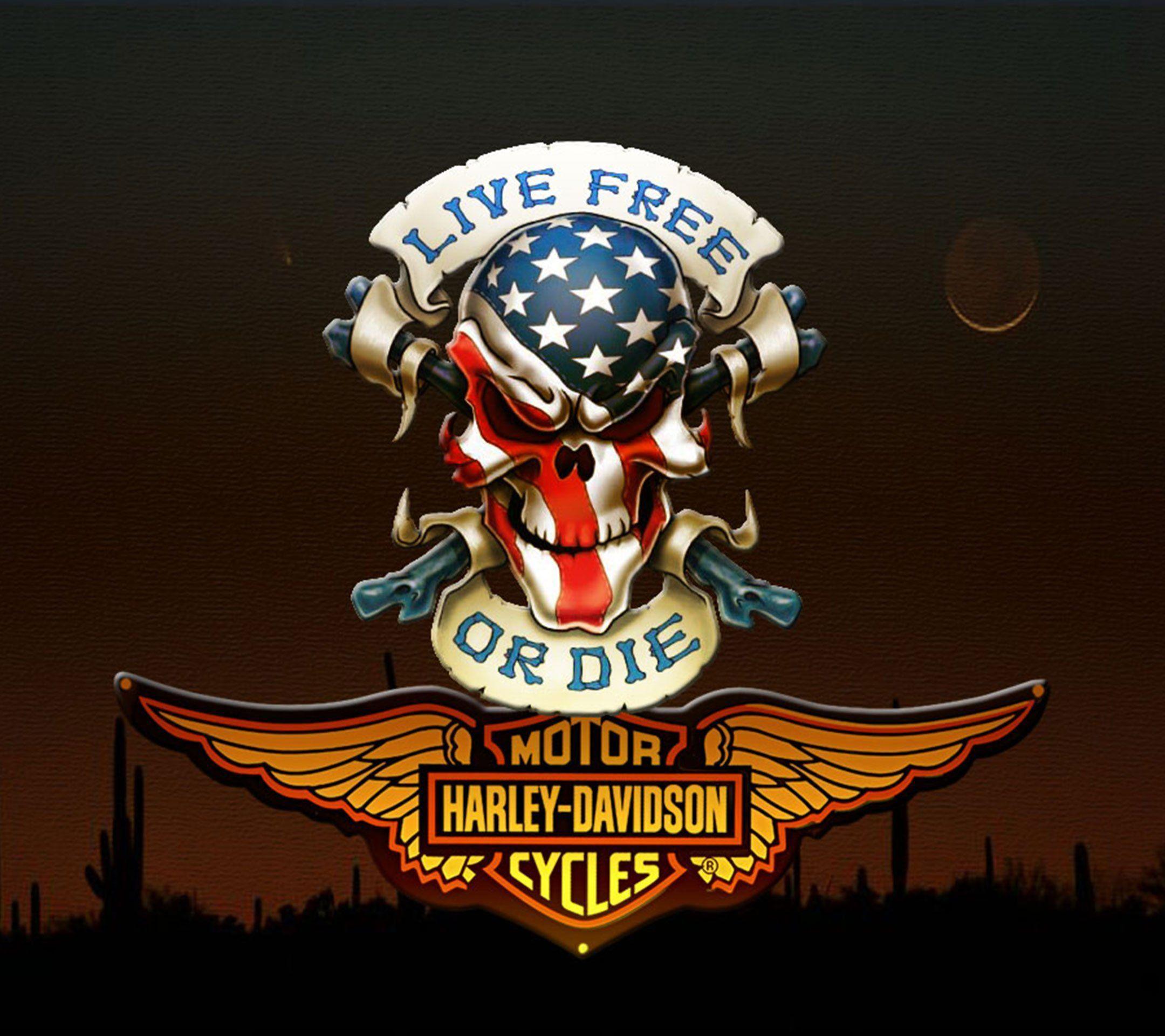 Harley Davidson Logo Wallpapers Top Free Harley Davidson Logo Backgrounds Wallpaperaccess