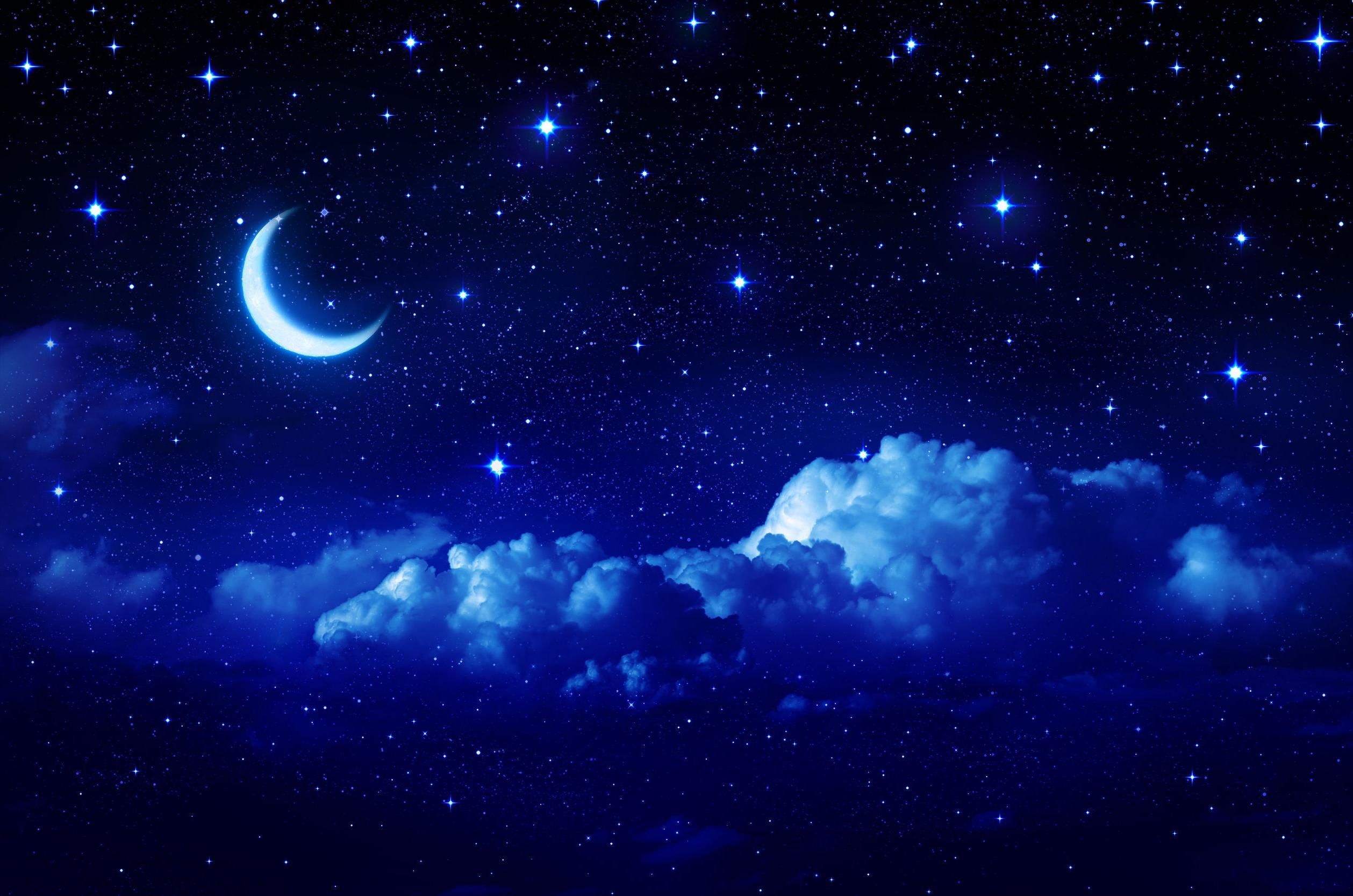 Blue Moon And Star Wallpapers Top Free Blue Moon And Star