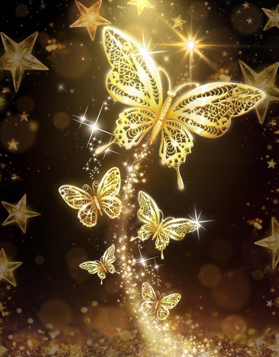 Gold Butterfly Wallpapers - Top Free Gold Butterfly ...