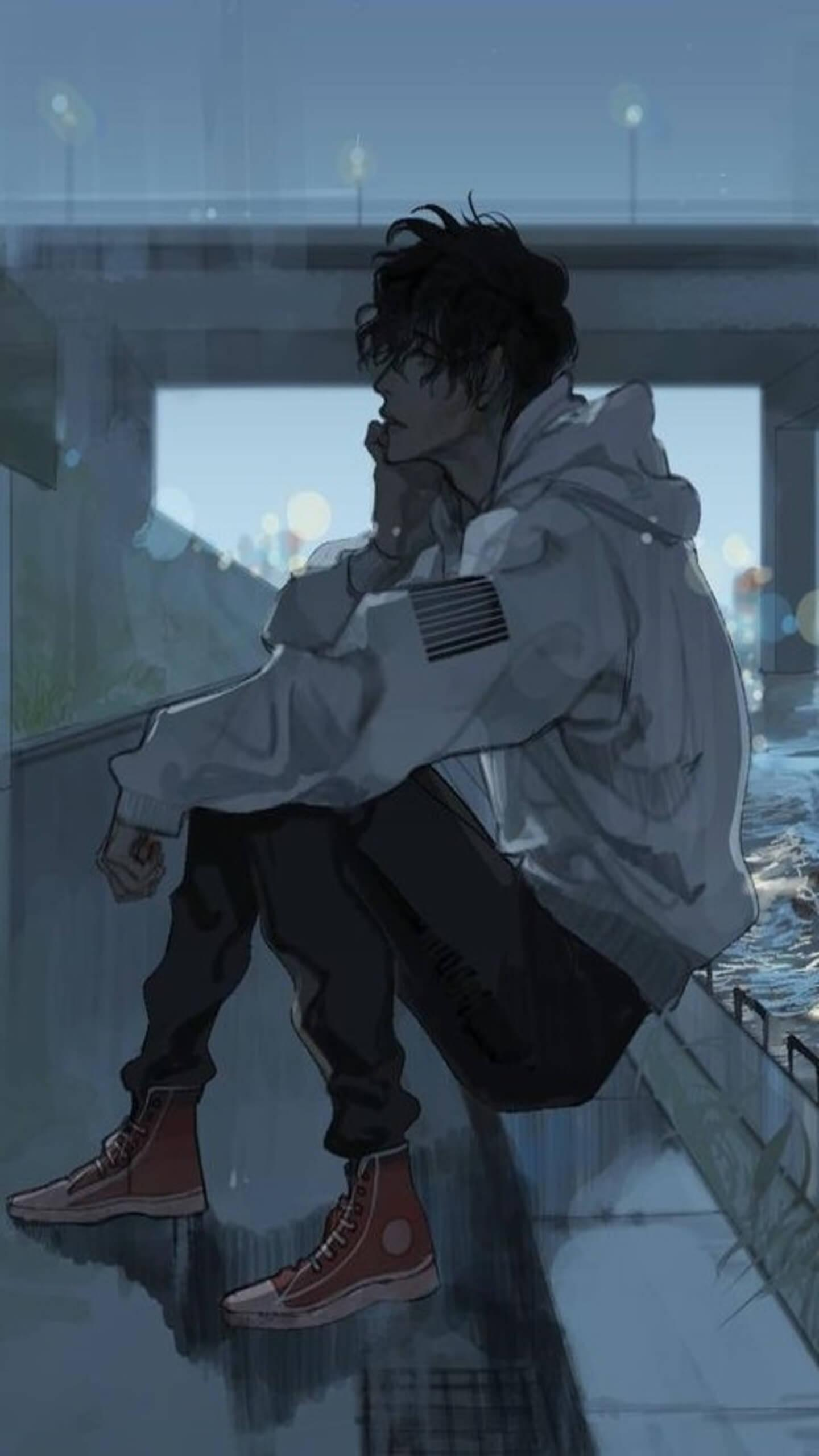 Depressed Anime Wallpaper Boy Sad