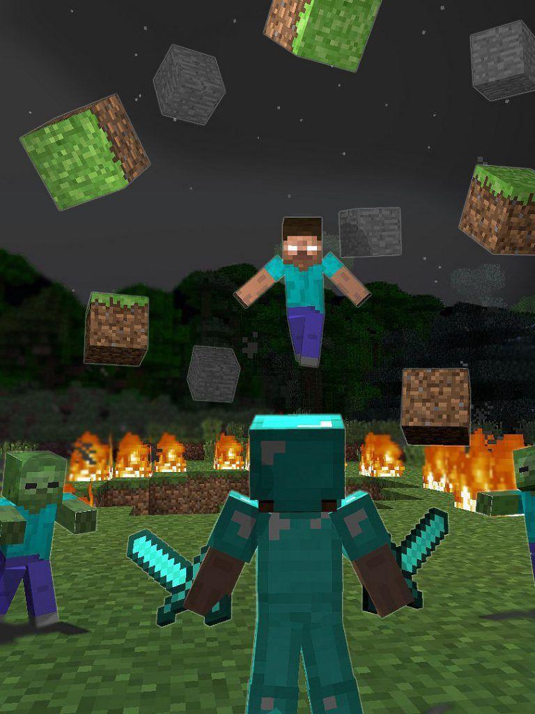 Epic Herobrine Minecraft Wallpaper
