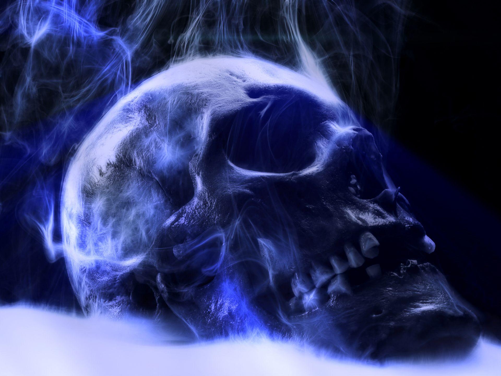 раскраски картинки череп на синем фоне открутить один них