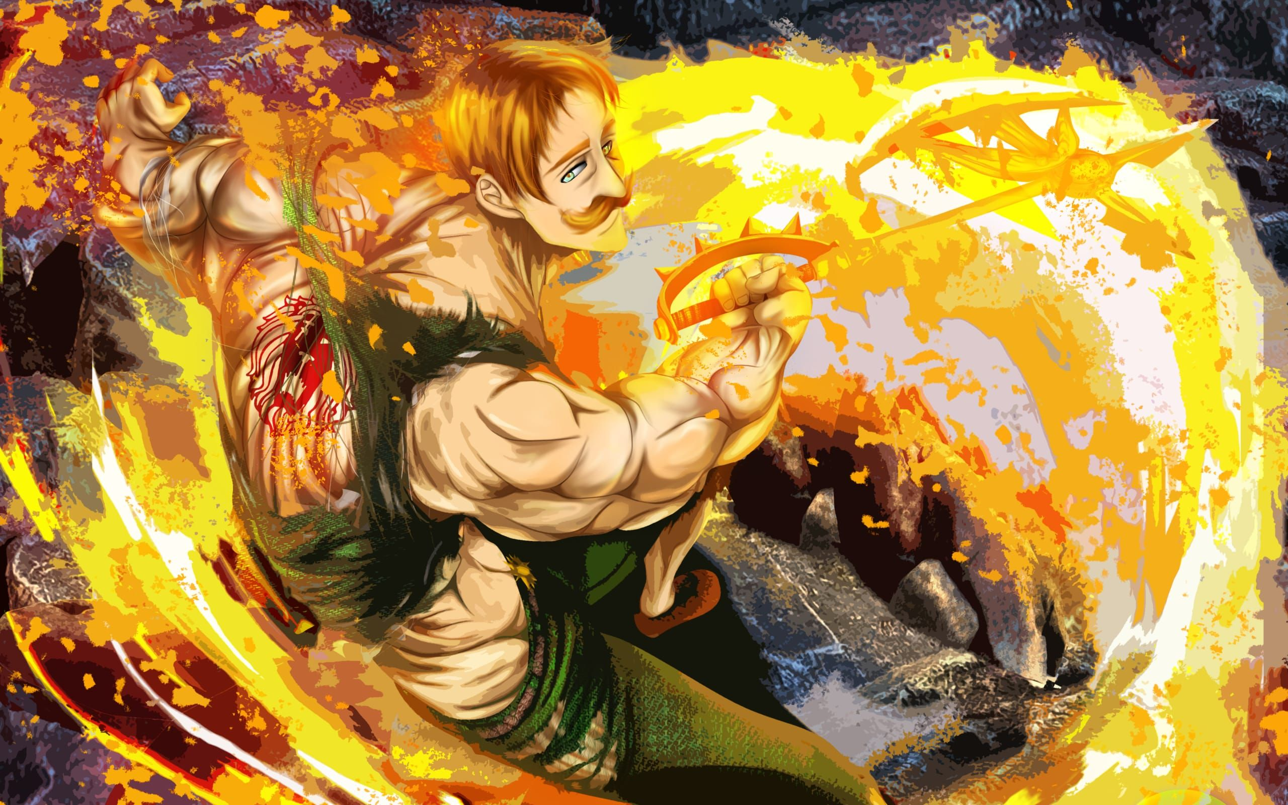 Escanor Wallpapers Top Free Escanor Backgrounds Wallpaperaccess