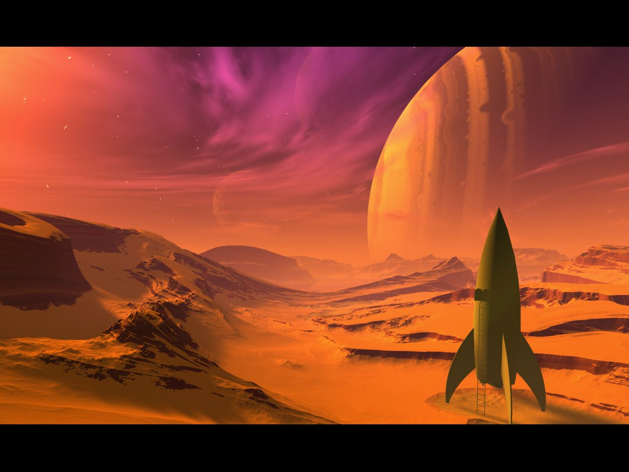 1280x960 Sci Fi Landscape HD Wallpaper Of