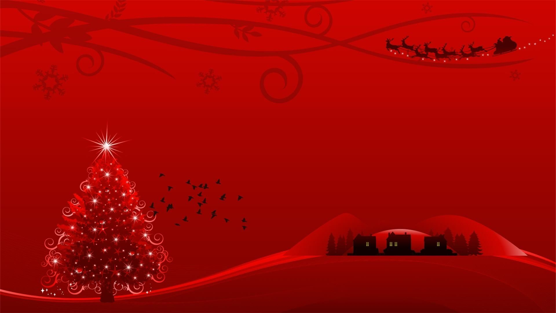Red Christmas Wallpapers Top Free Red Christmas Backgrounds Wallpaperaccess