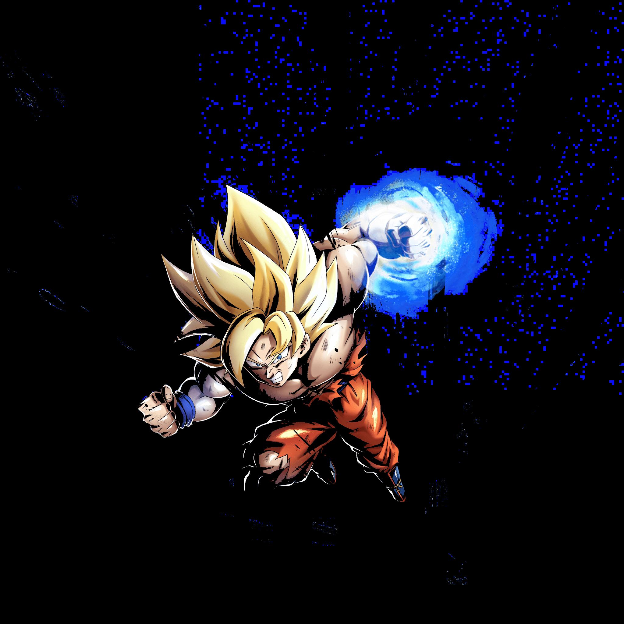 2048x2048 Super Saiyan Goku Amoled Hình nền: DragonballLeosystem