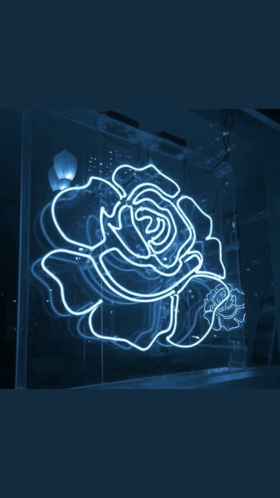 blue aesthetic neon wallpapers