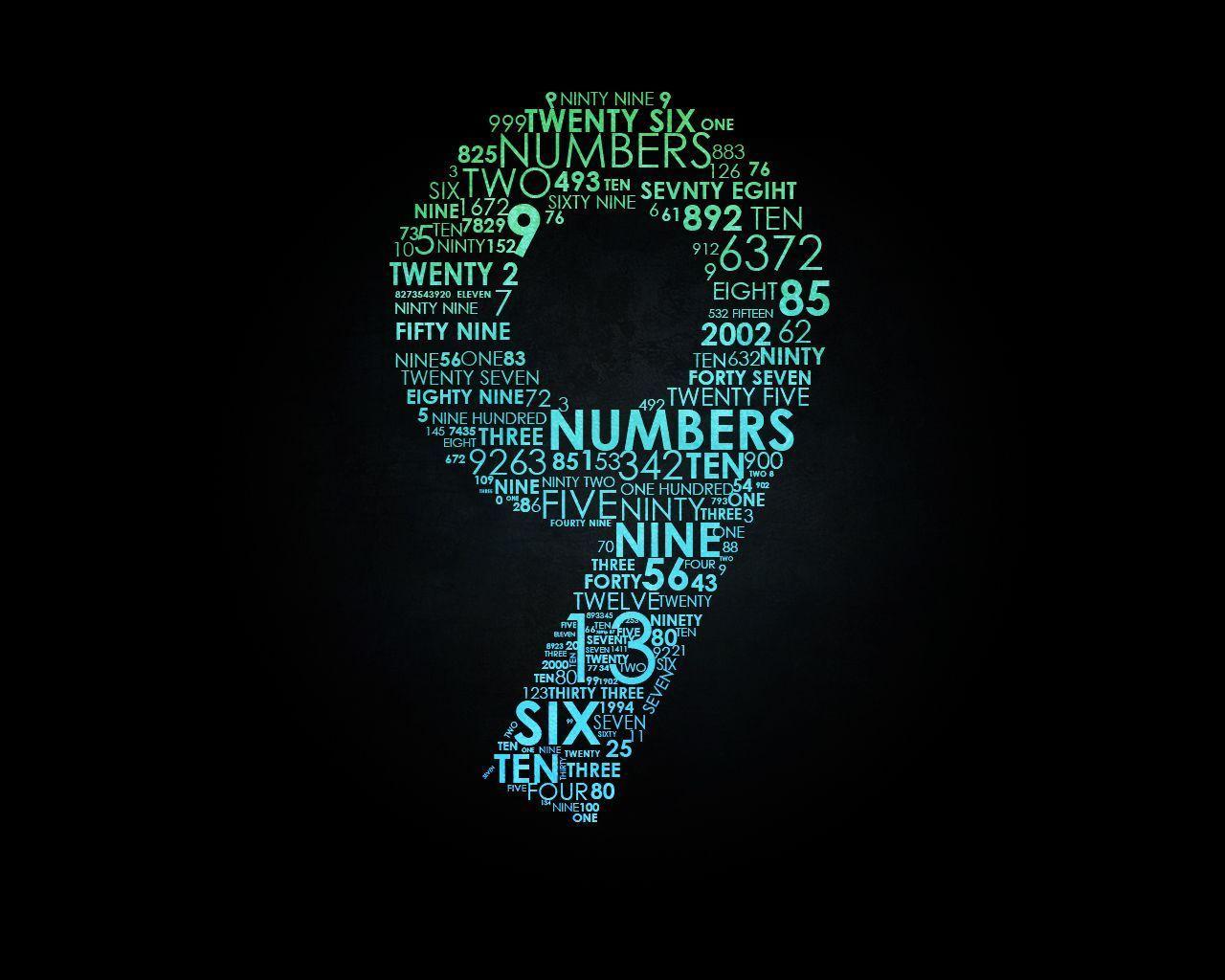 number wallpaper