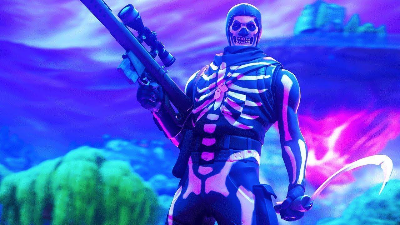 Purple Skull Trooper Wallpapers Top Free Purple Skull Trooper Backgrounds Wallpaperaccess