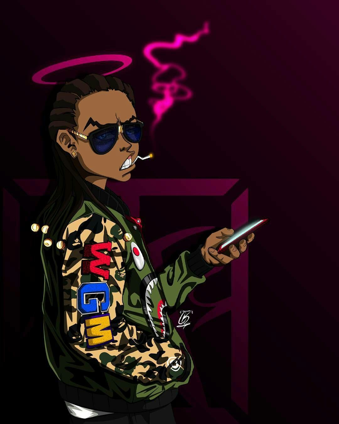 the latest 105d5 5d1a4 1080x1349 Pin by Johnny Womack on Boondocks   Dope art, Art, Dope wallpapers