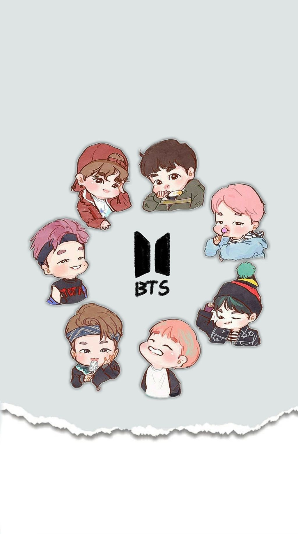 BTS Cartoon Wallpapers Top Free BTS Cartoon Backgrounds
