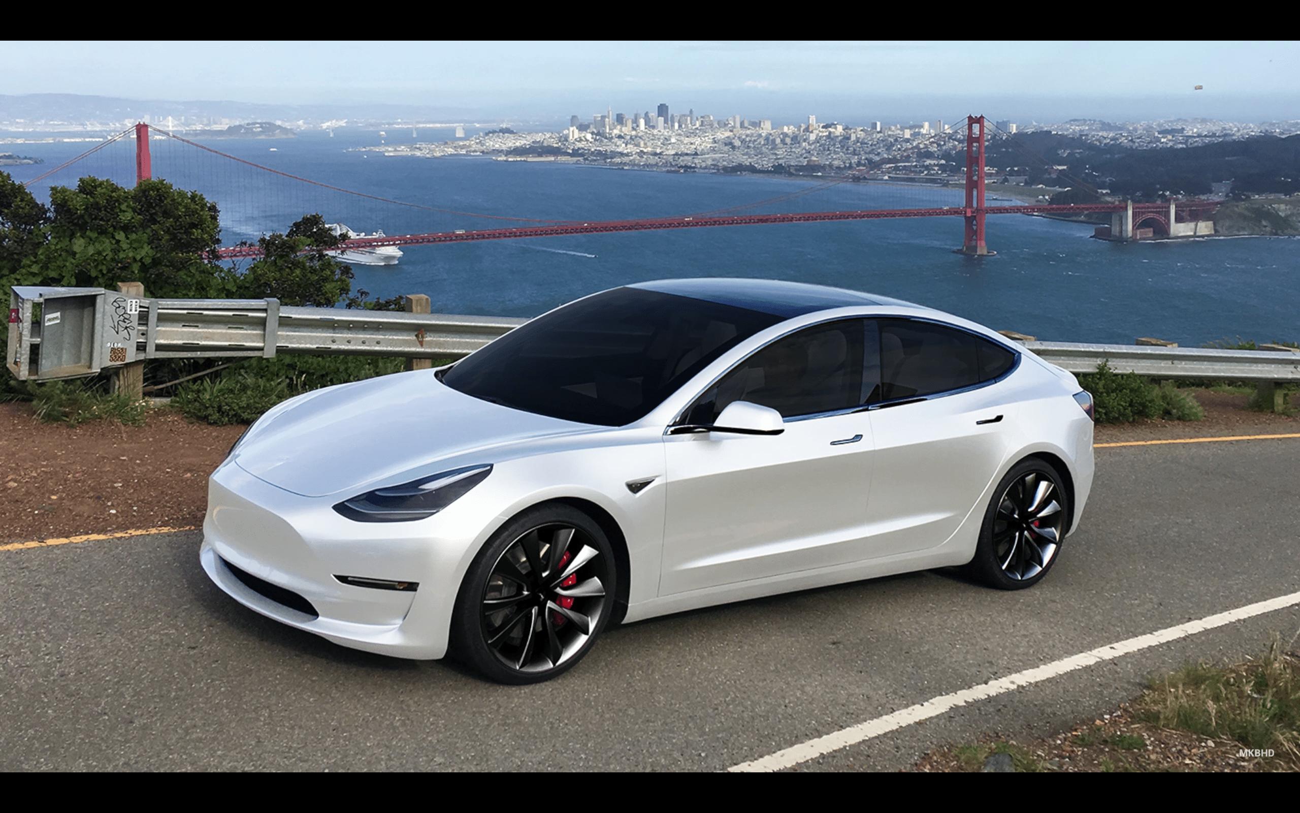White Tesla Model 3 Wallpapers Top Free White Tesla Model