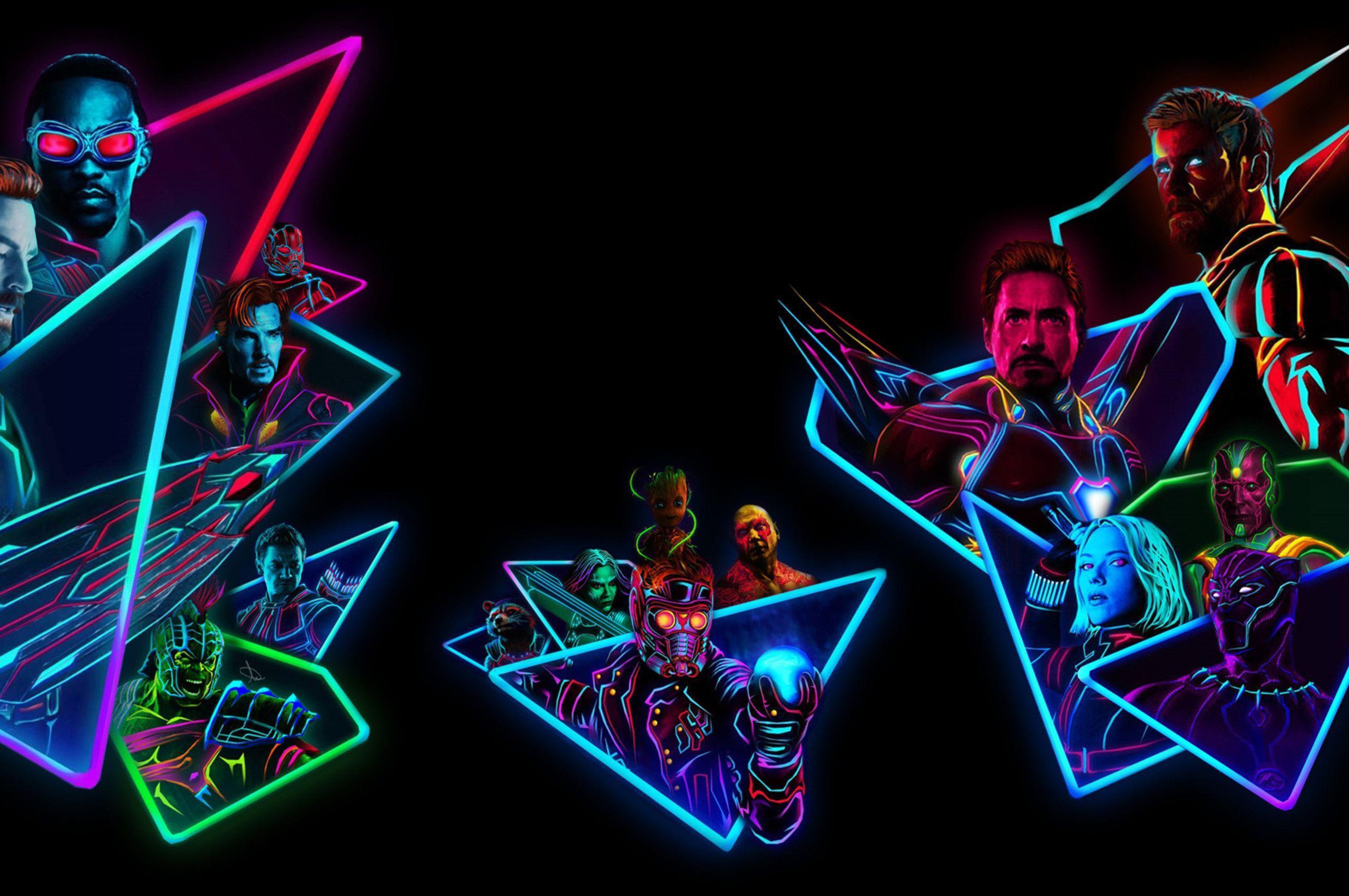 Neon Avengers Wallpapers - Top Free ...