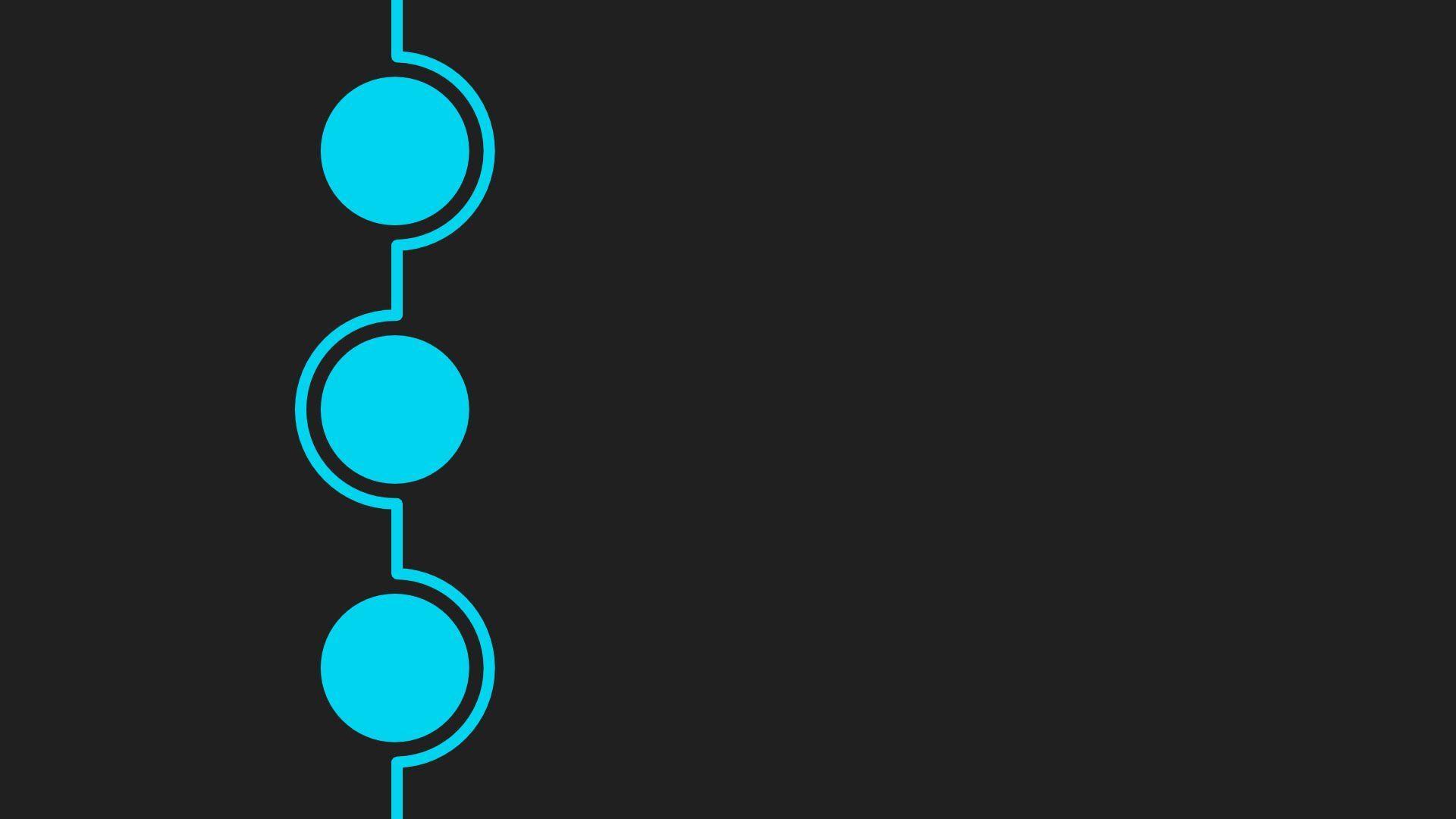 Hình nền 3 vòng tròn tối thiểu 1920x1080 trong Inkscape