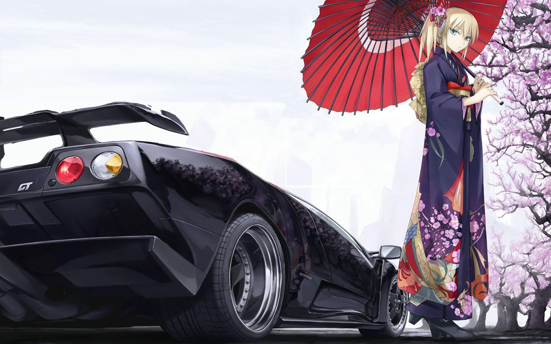Anime Girl Jdm Wallpaper - Anime Wallpaper HD