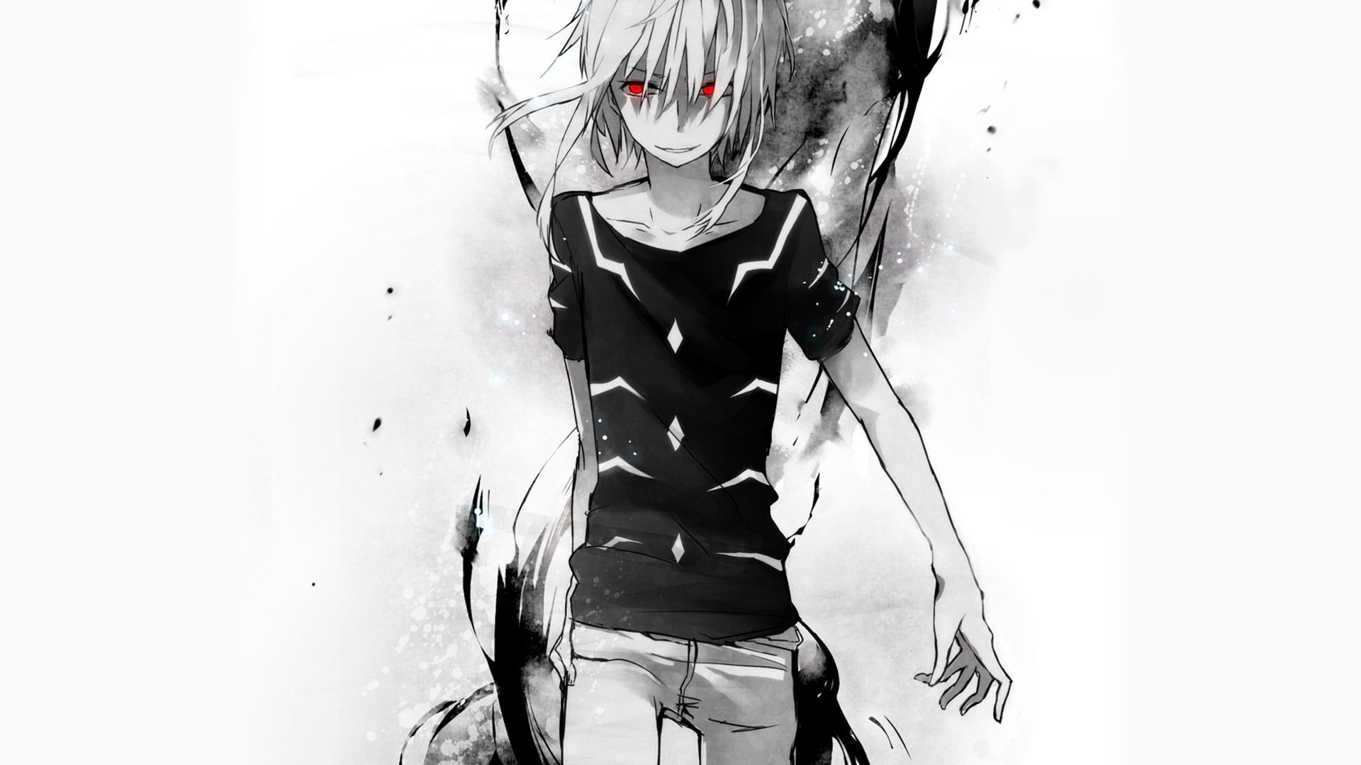 Black And White Anime Wallpapers Top Free Black And White Anime Backgrounds Wallpaperaccess