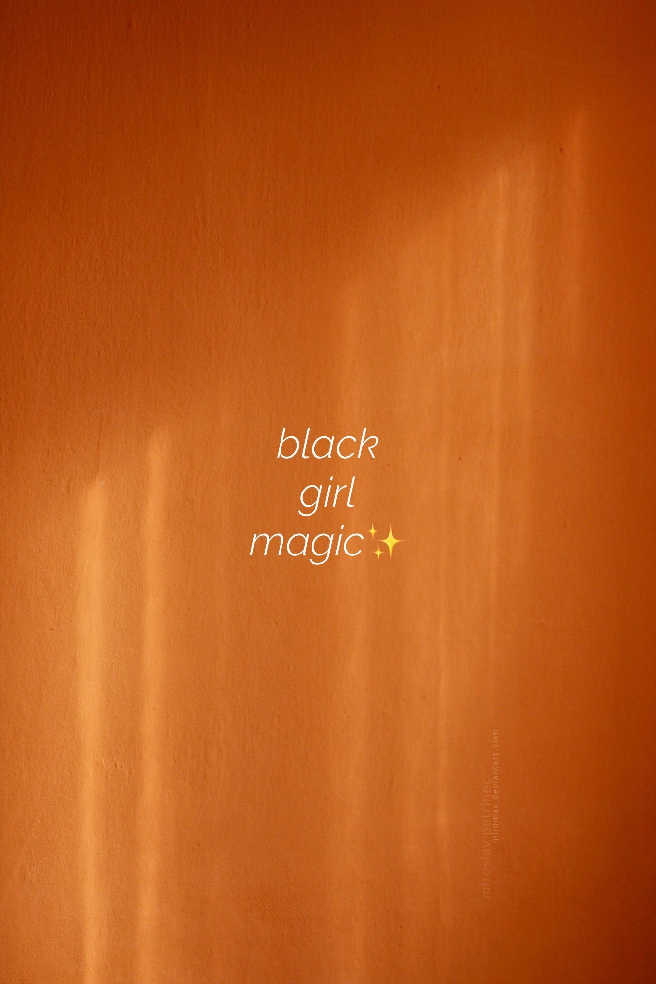 Girl magic wallpaper black Kelly Finley