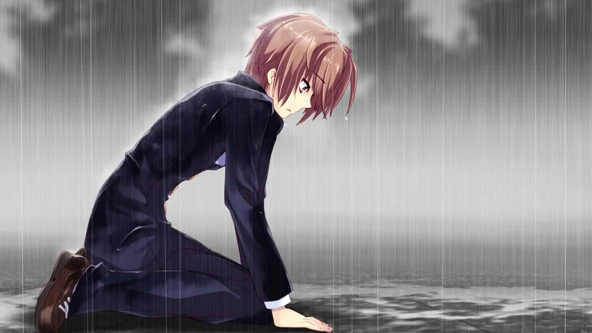 Sad Anime Boy Wallpapers Top Free Sad Anime Boy Backgrounds Wallpaperaccess